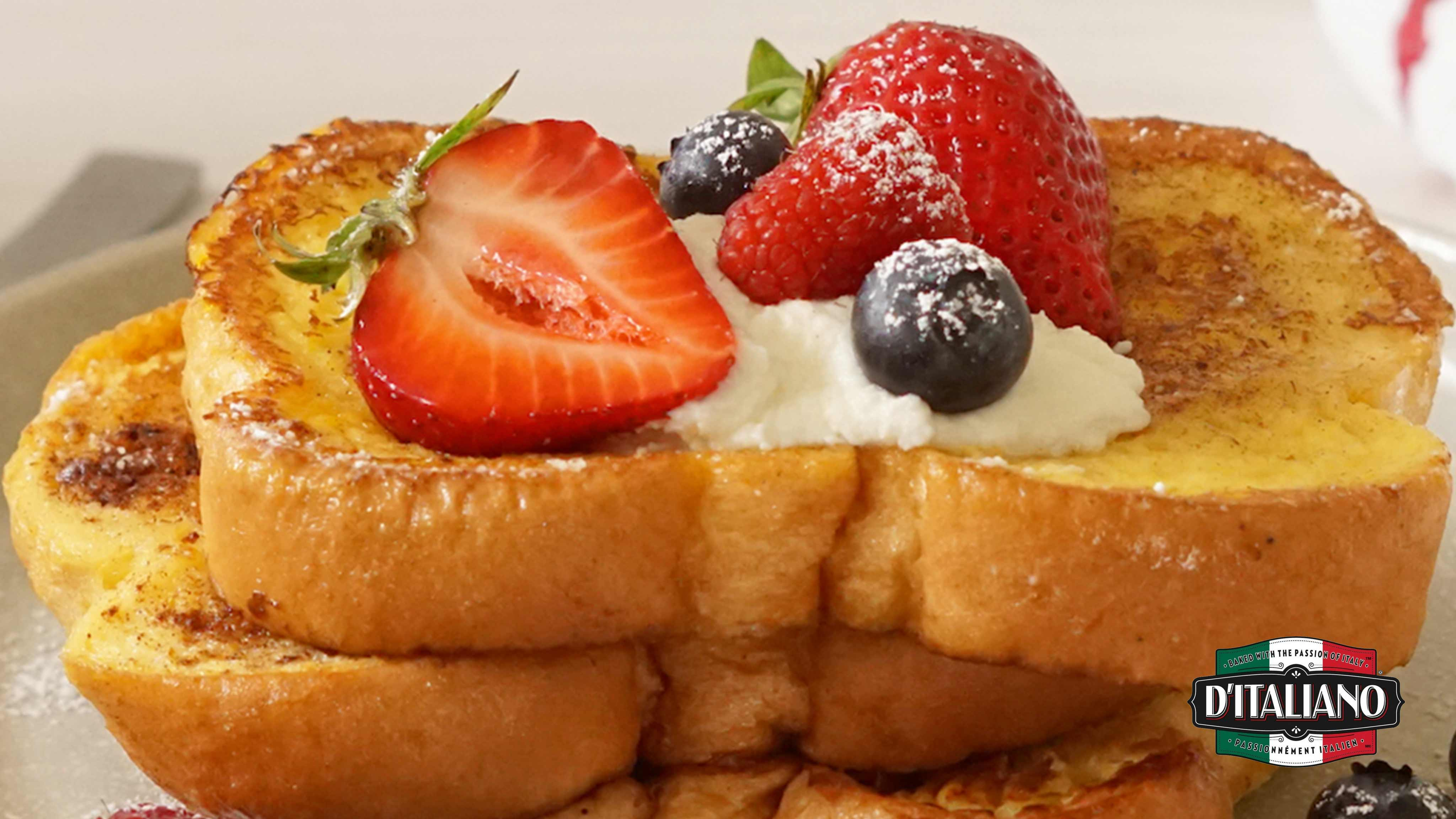 Image for Recipe D'Italiano® French Toast with Mascarpone Maple Cream