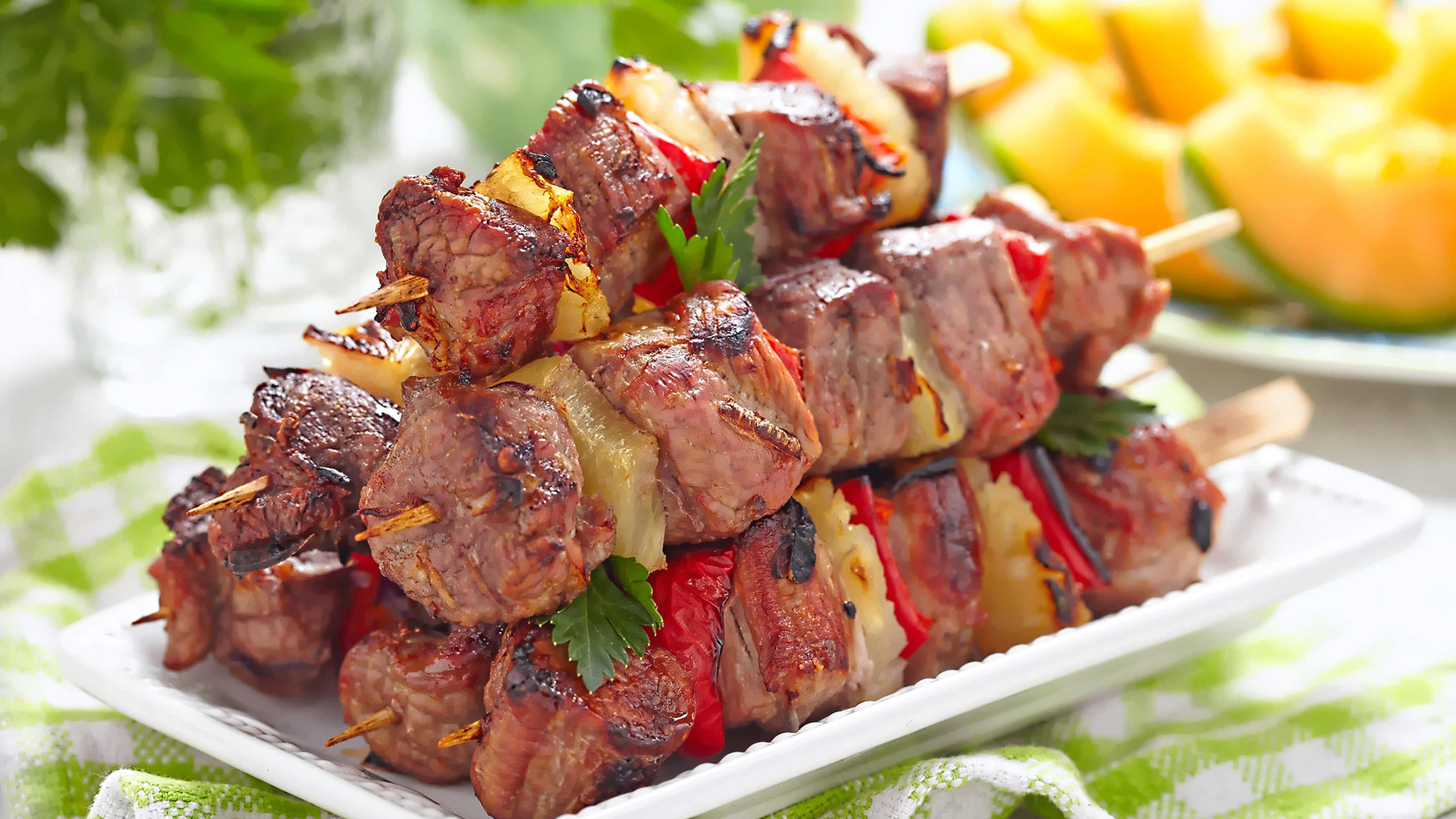 Image for Recipe Tropical Pork Kabobs