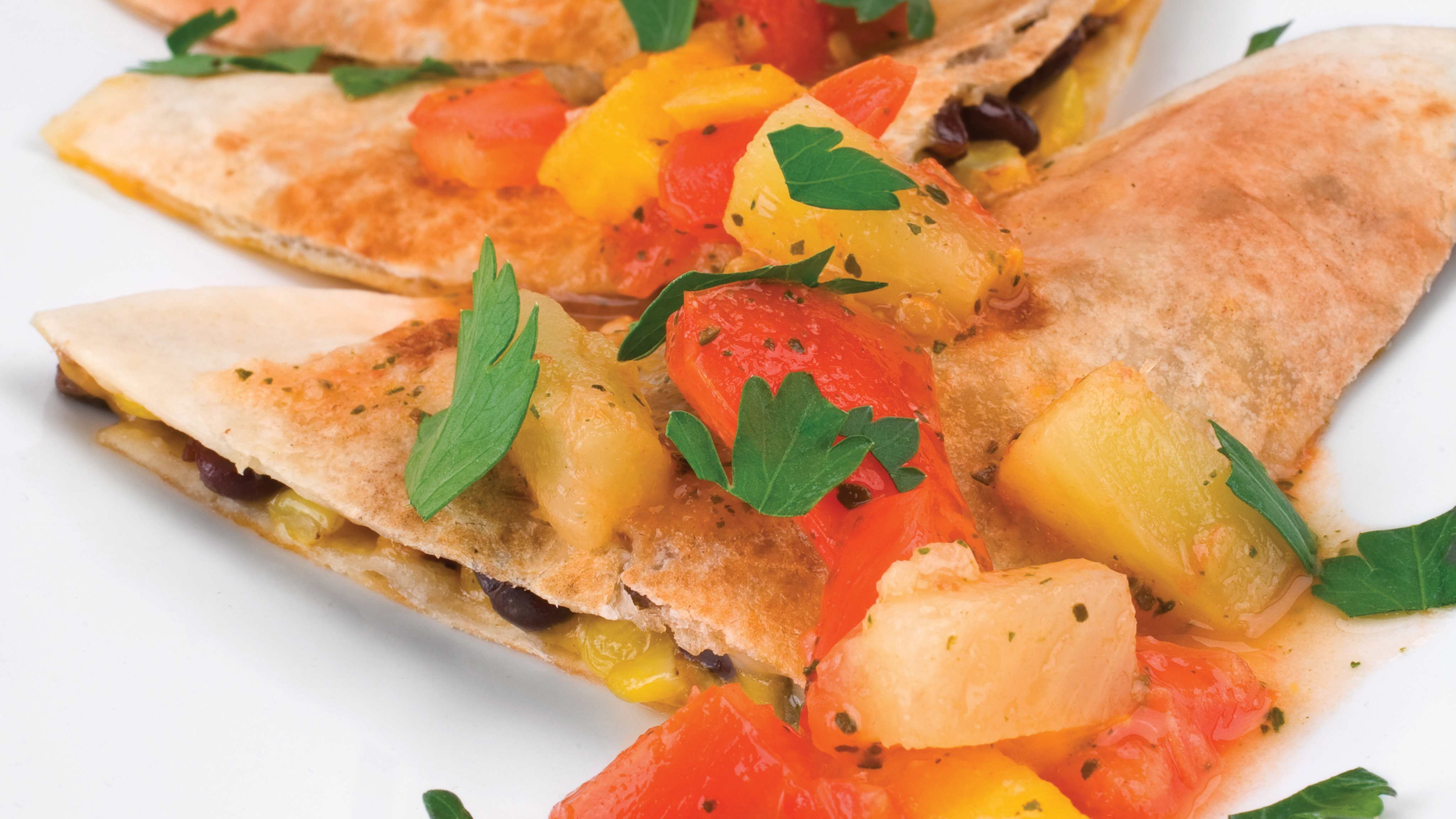 Image for Recipe Brunch Quesadillas with Fruit Salsa