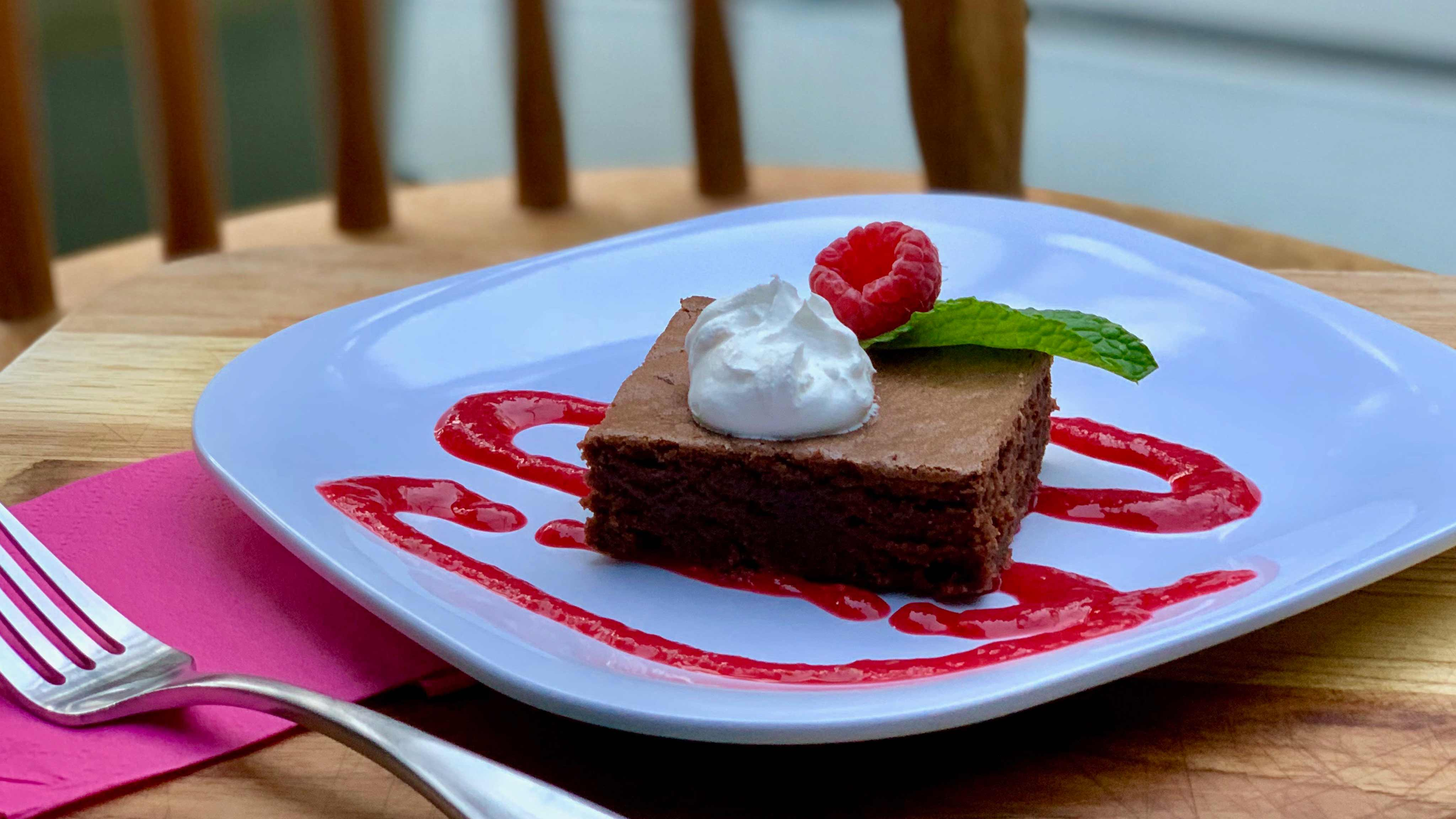 Image for Recipe Classic Chocolate Cake with Raspberry Puree