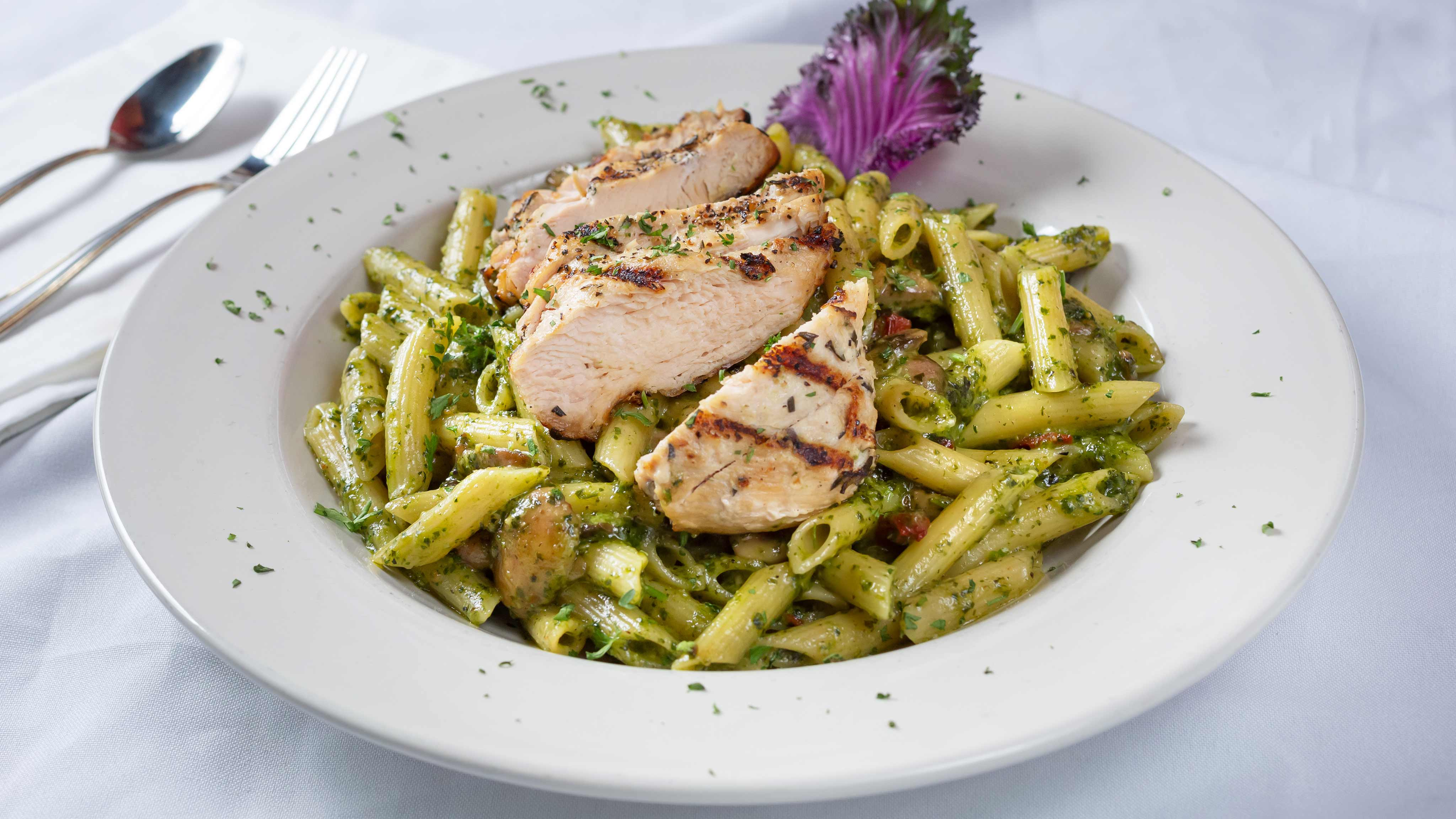 Image for Recipe Grilled Chicken Penne Pesto