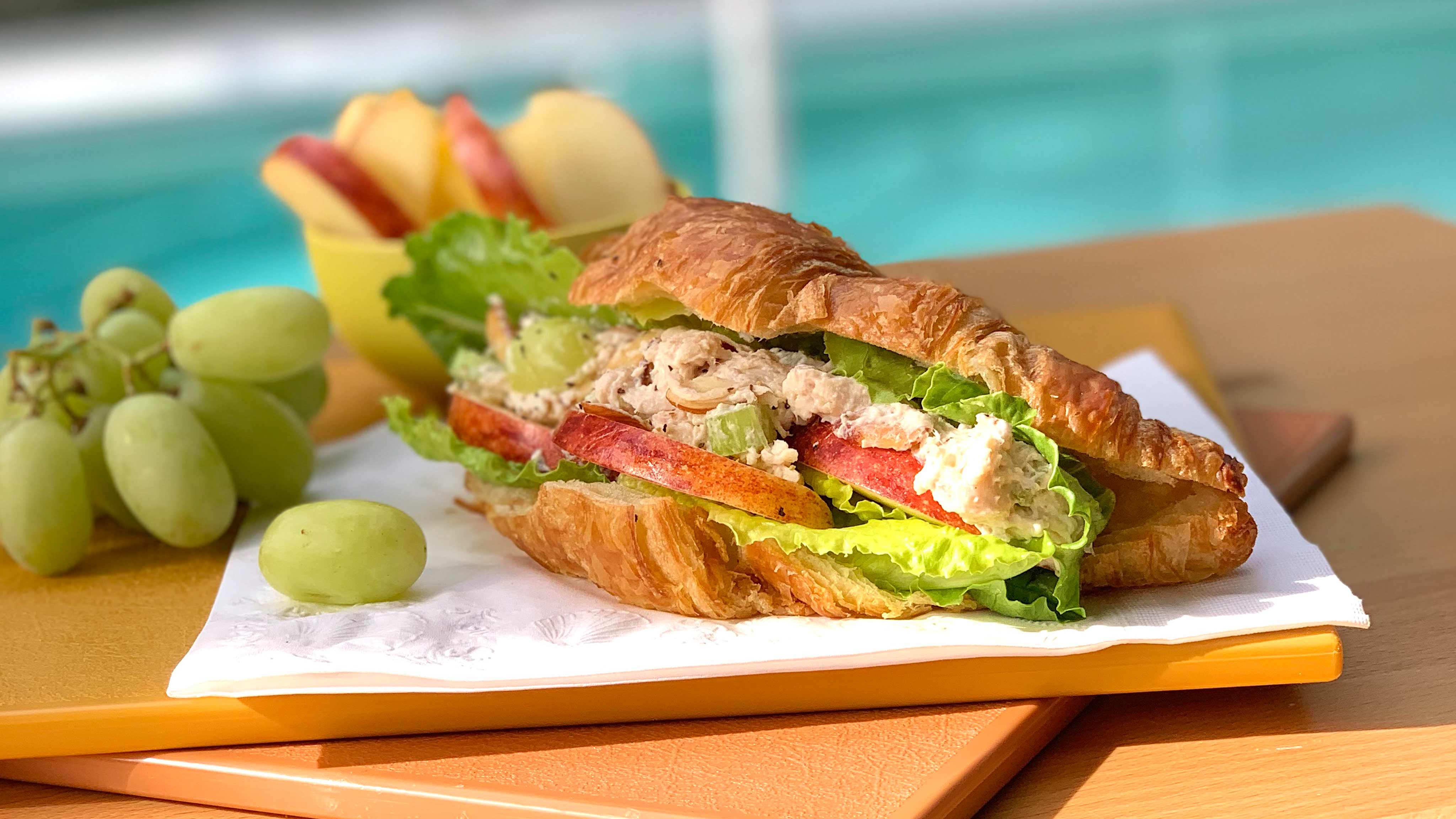 Image for Recipe Chicken Salad and Apple Croissants