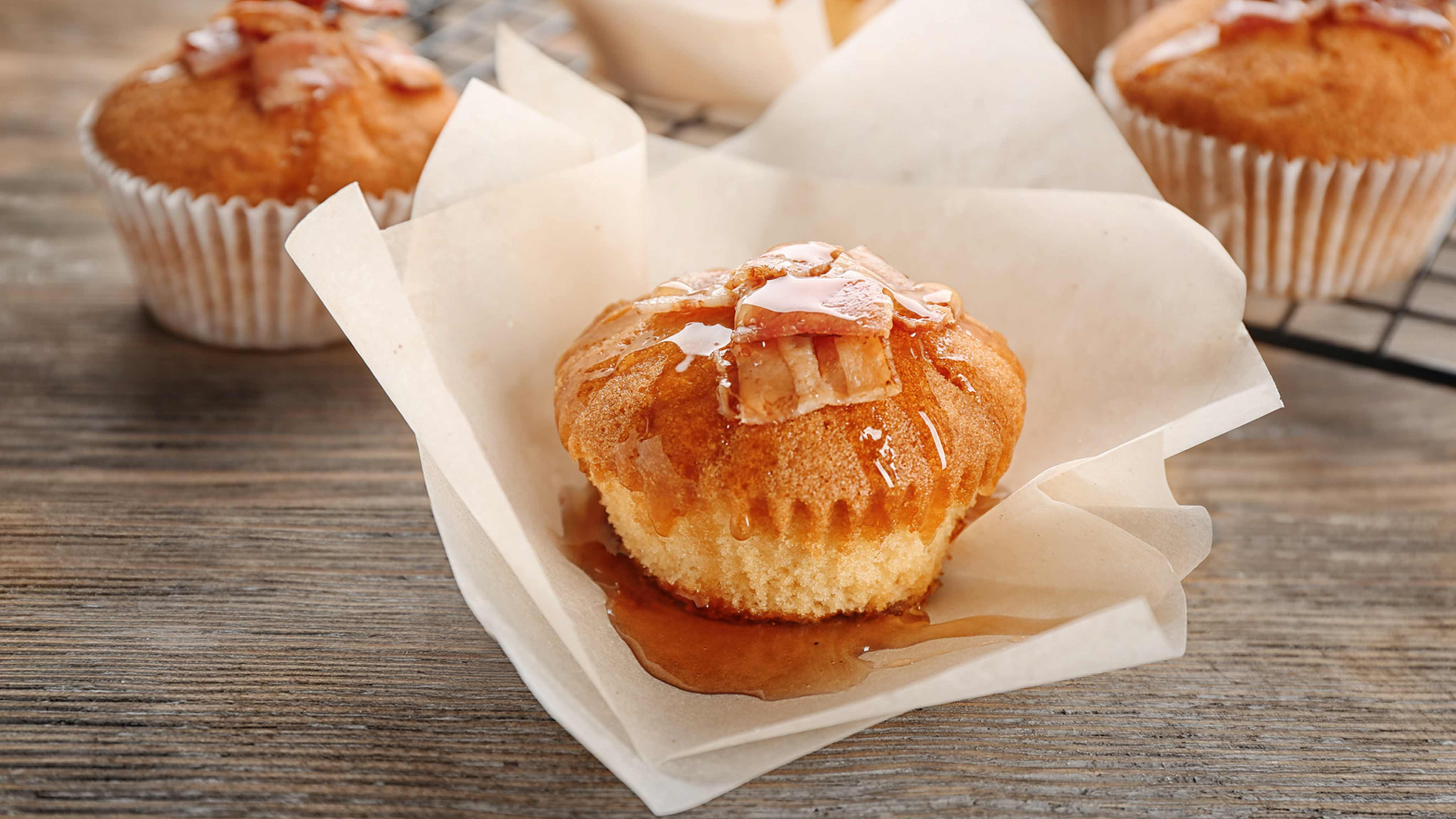 Image for Recipe Savory Maple Muffins with Candied Bacon