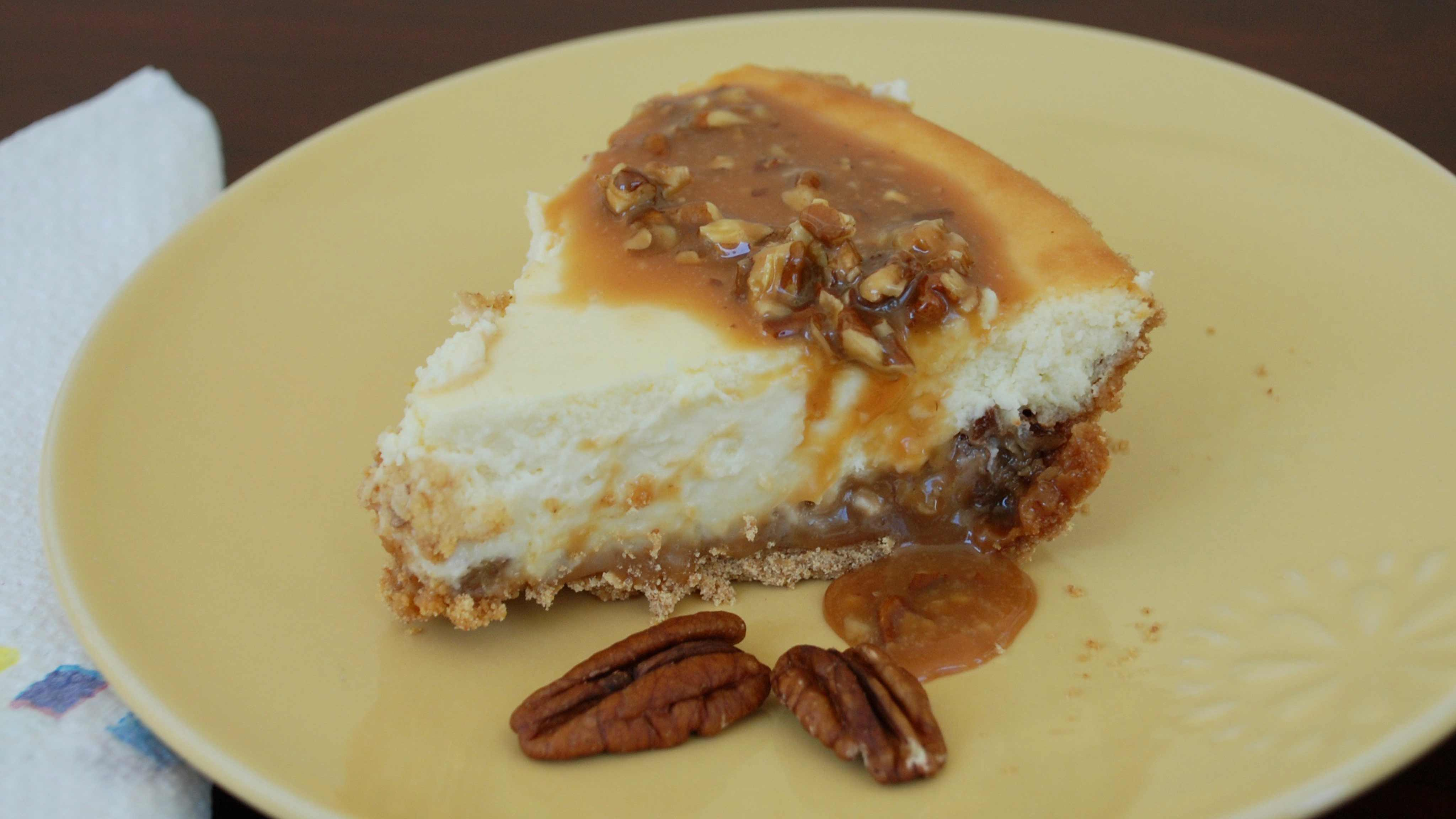 Image for Recipe Caramel Pecan Cheesecake