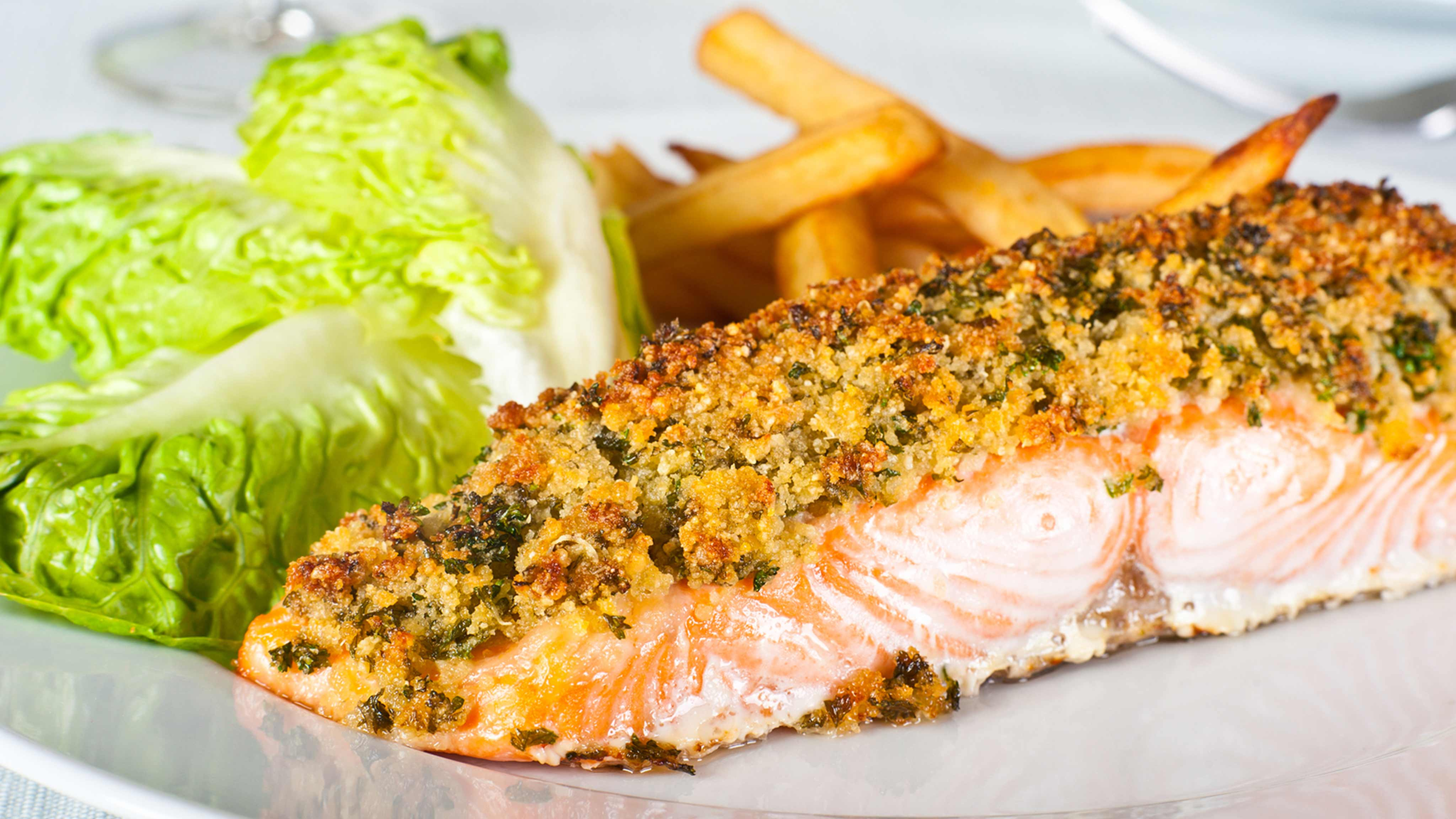 Image for Recipe Salmon Fillets with Country Herb Crust