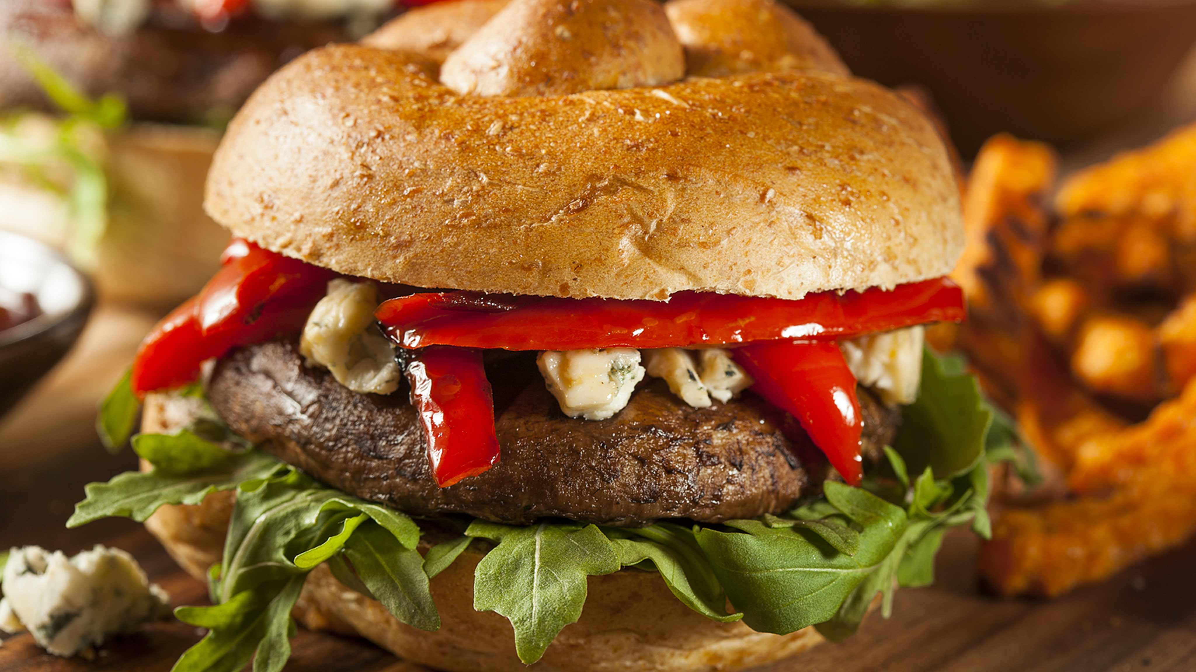 Image for Recipe Grilled Portobello Burger