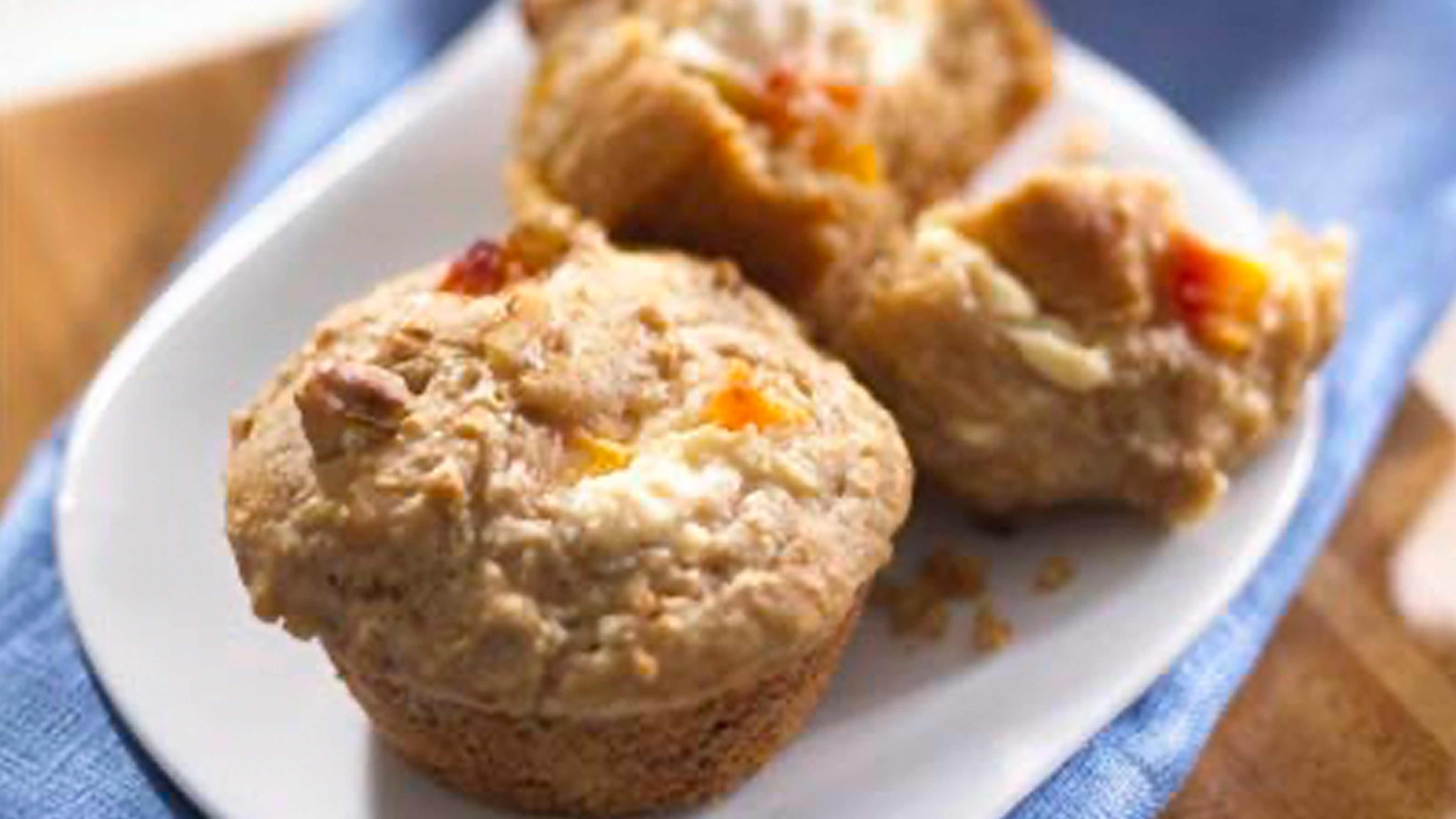 Image for Recipe Healthy Oat Peaches and Cream Muffins