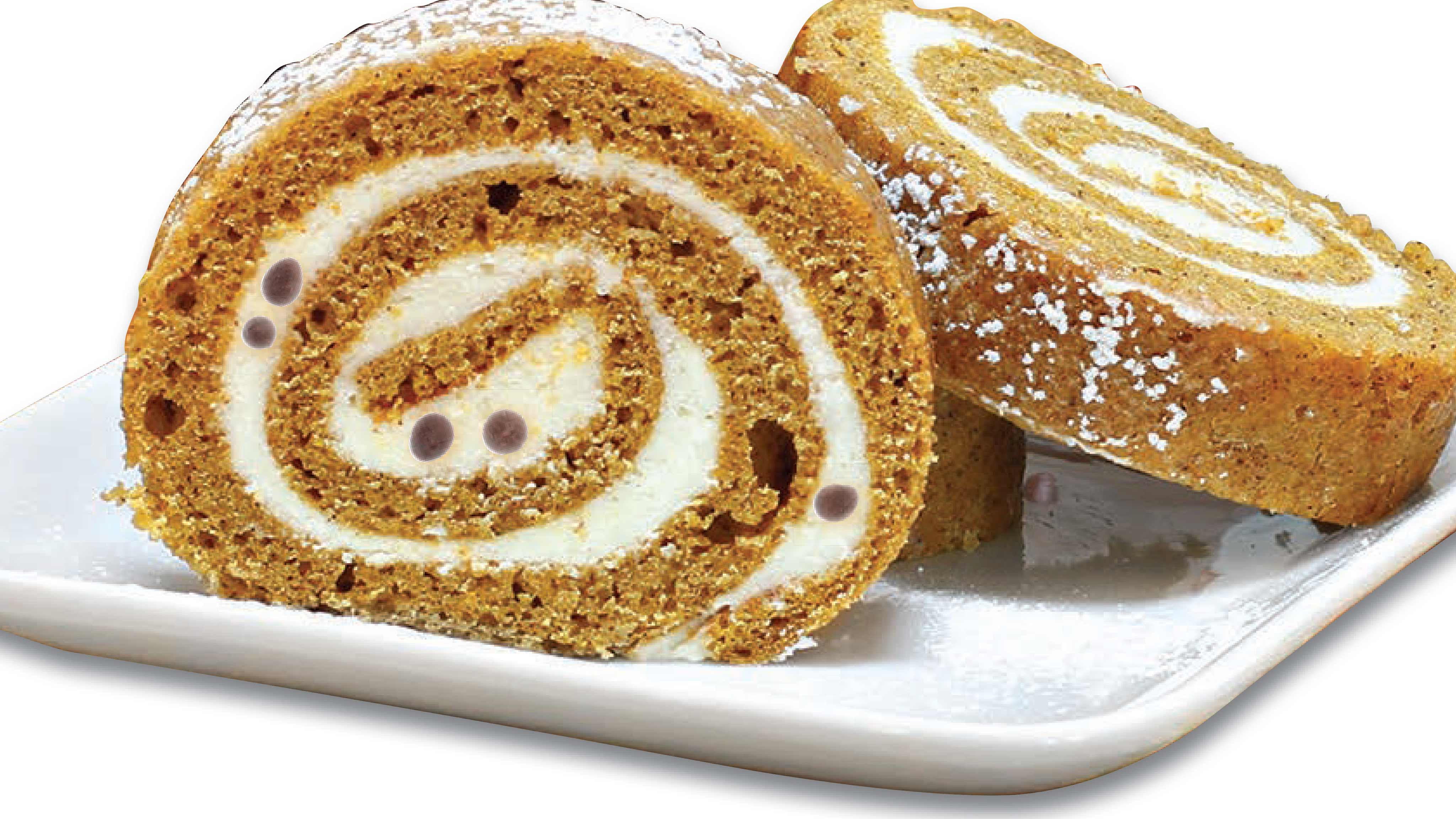 Image for Recipe Pumpkin Cake Roll with Chocolate Chips