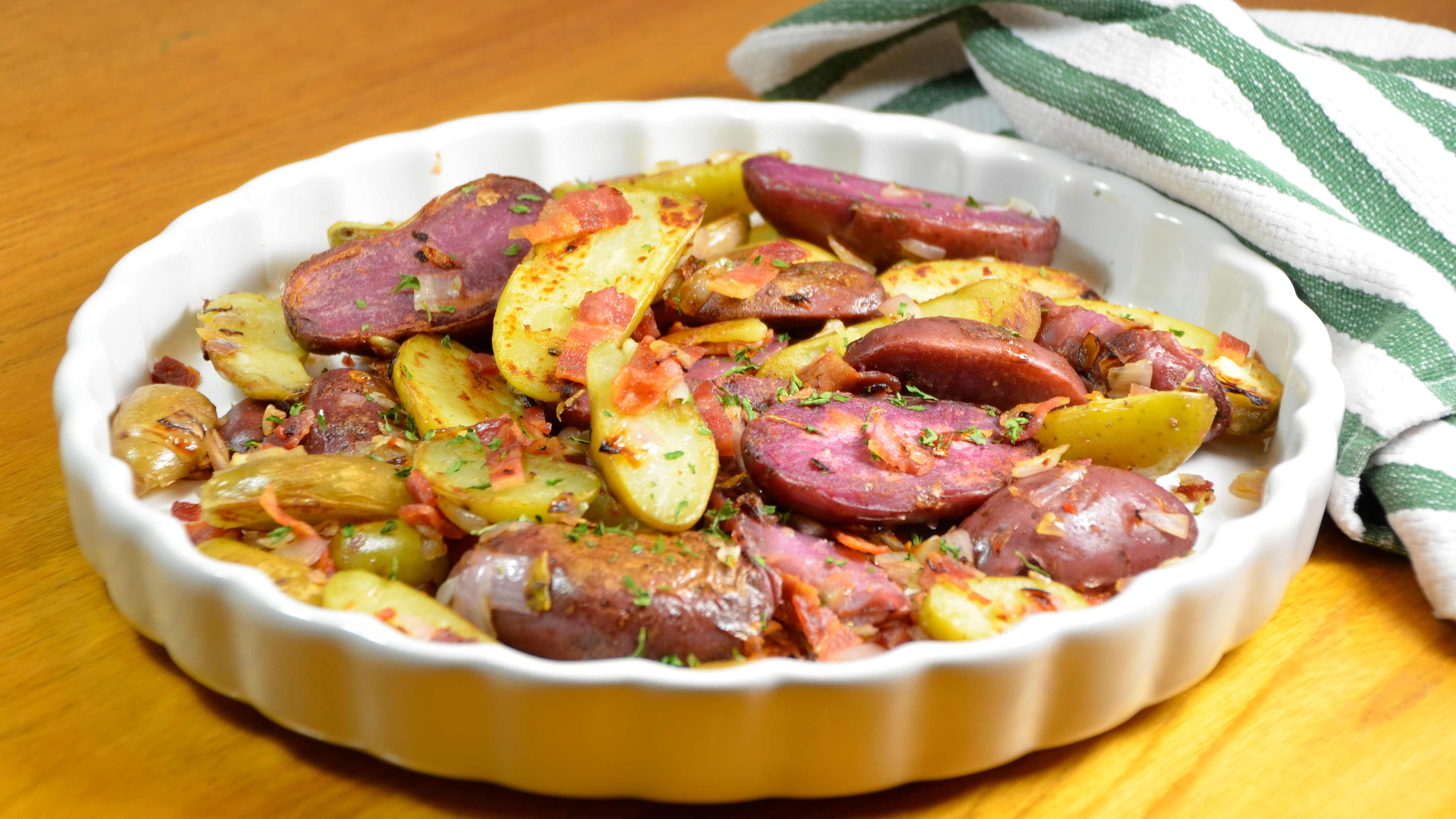Image for Recipe Fingerling Potatoes with Bacon and Red Onion