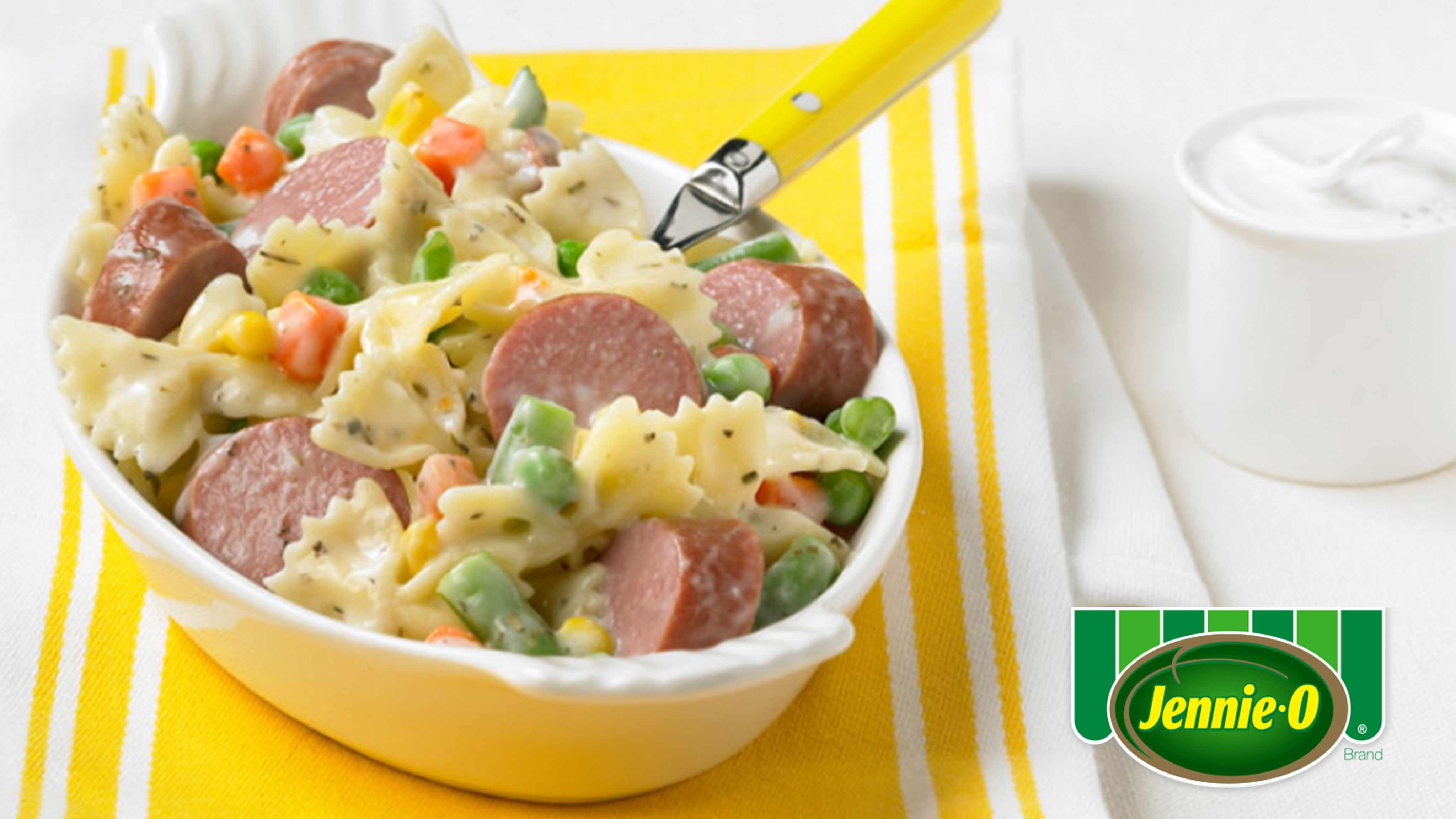 Image for Recipe Bow Tie Pasta with Turkey Kielbasa