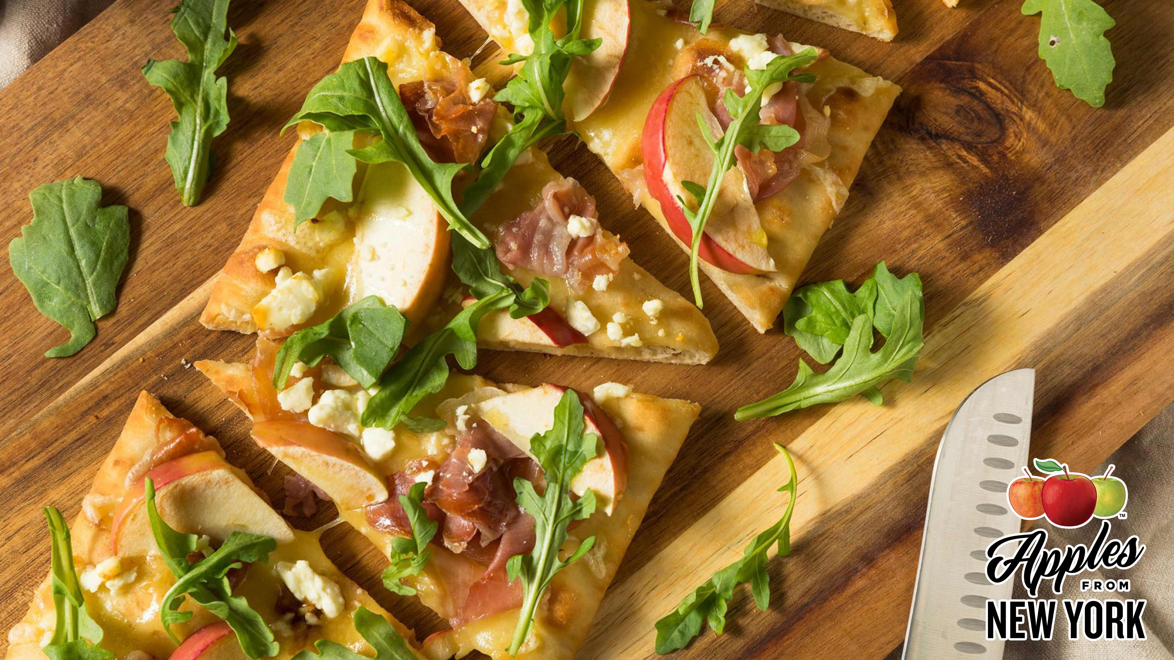 Image for Recipe Apple Cheddar Pizza with Toasted Pecans