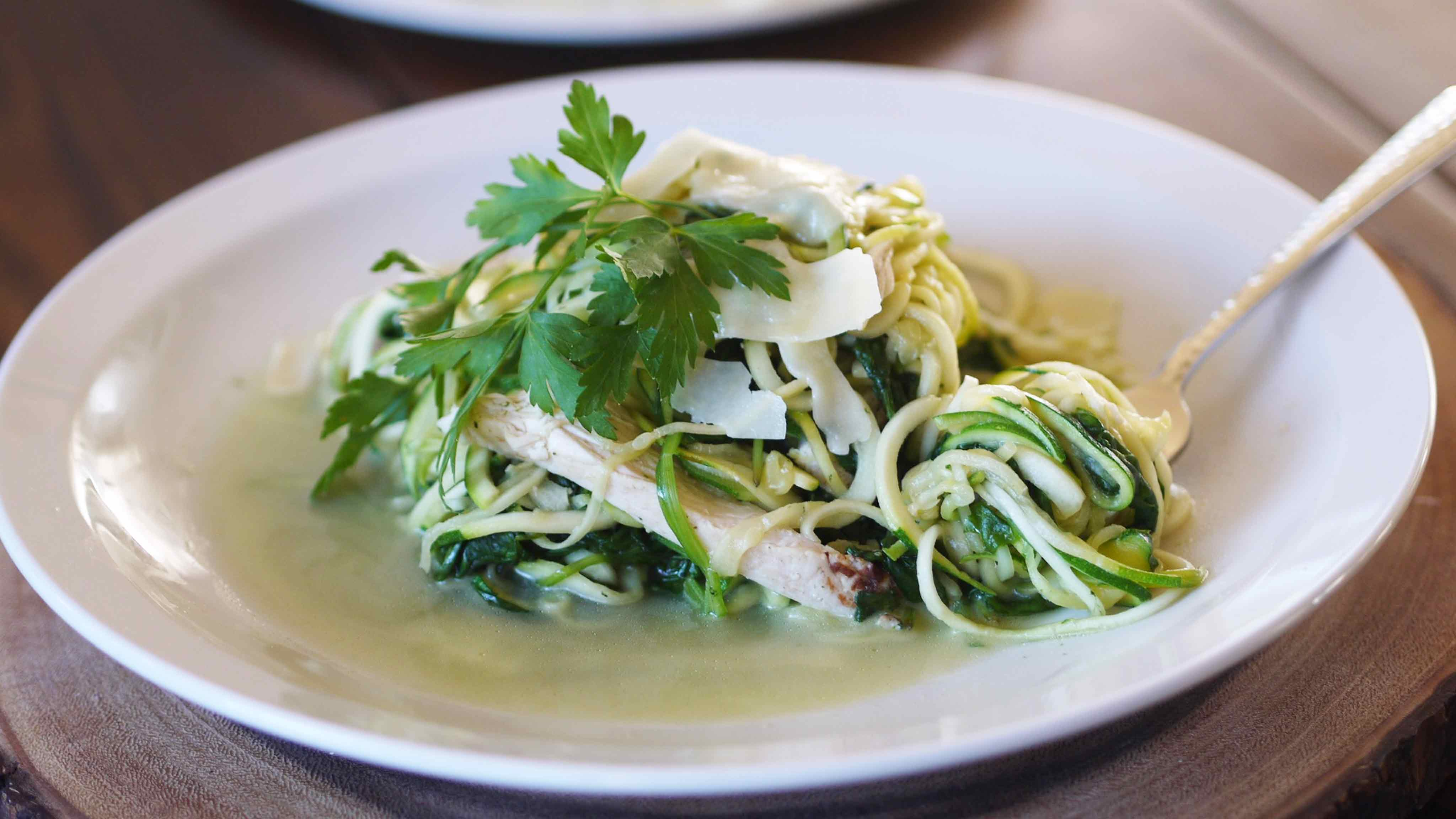 Image for Recipe Chicken and Spinach Zoodles