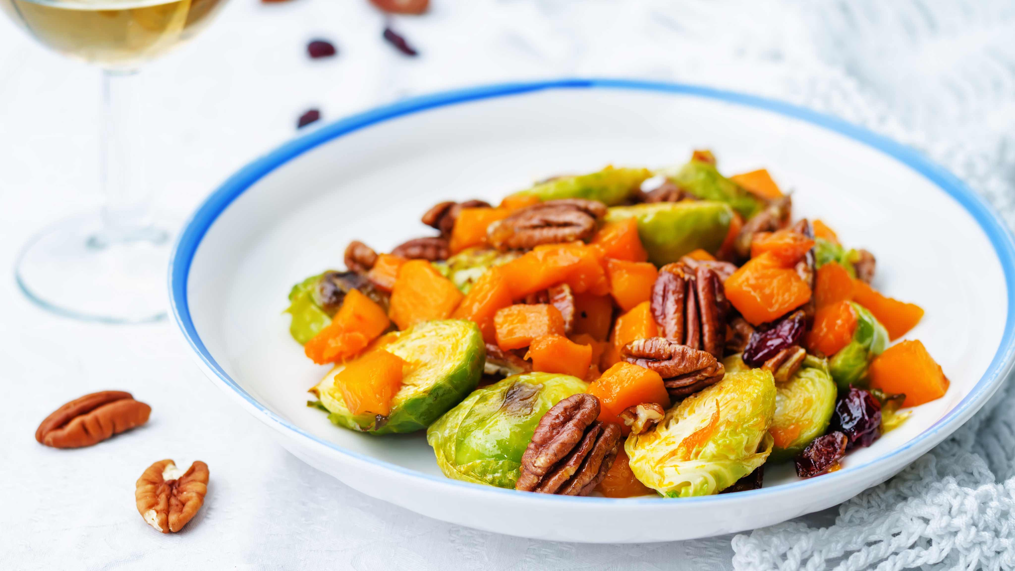 Image for Recipe Roasted Sprout and Butternut Salad