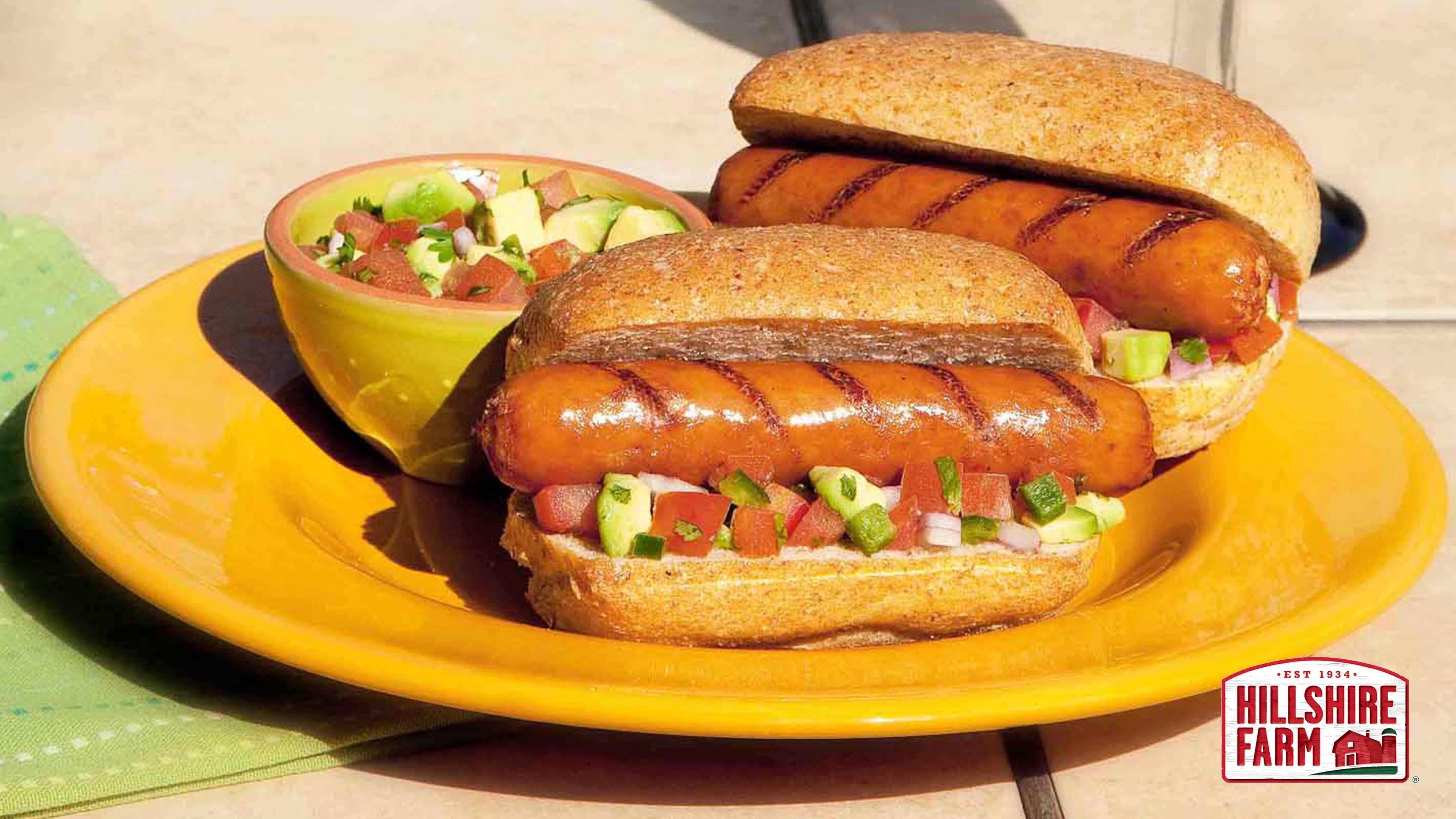 Image for Recipe Cheddarwurst Smoked Sausage Topped with Fresh Avocado Salsa