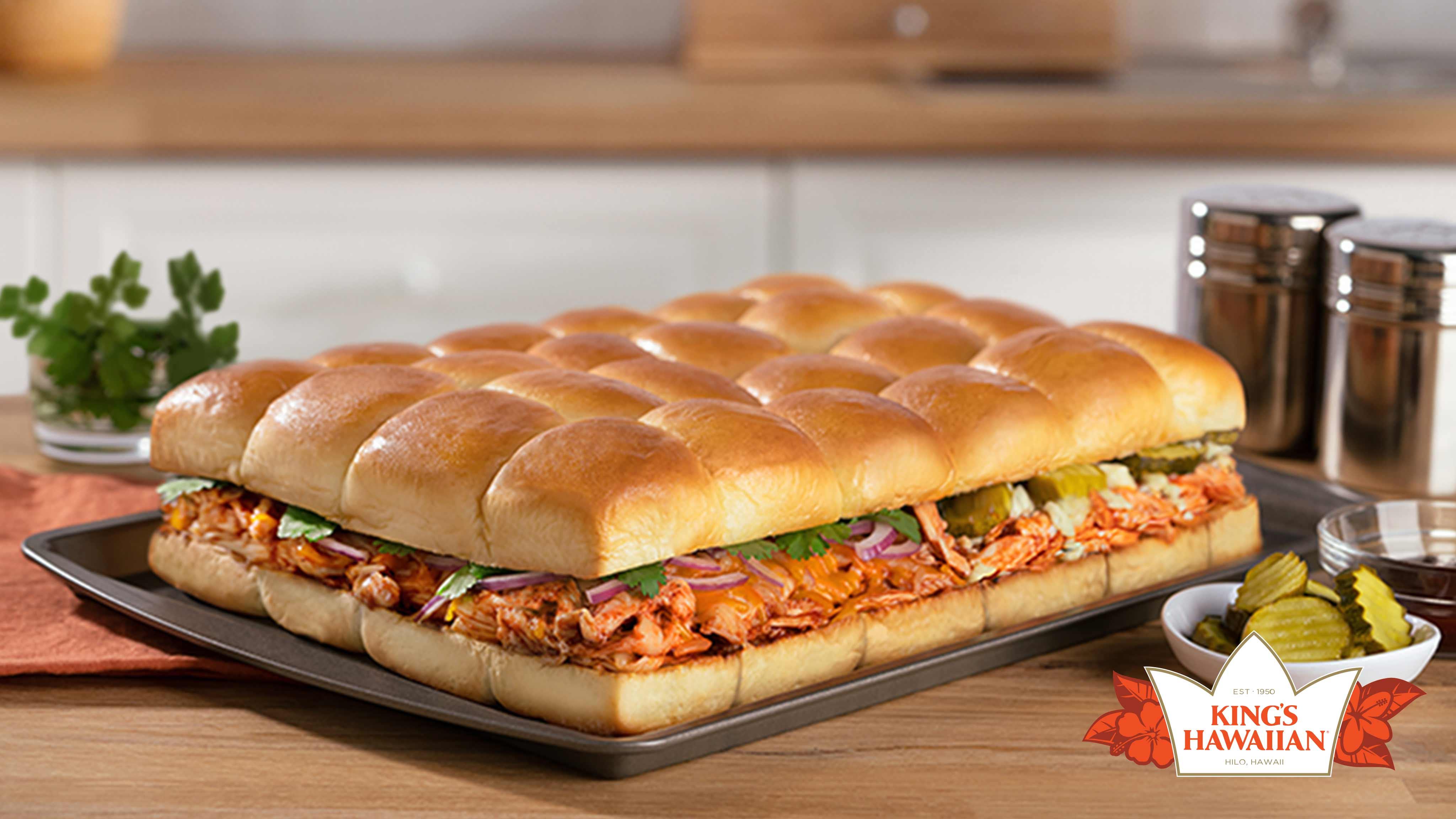 Image for Recipe BBQ Buffalo Chicken Sliders