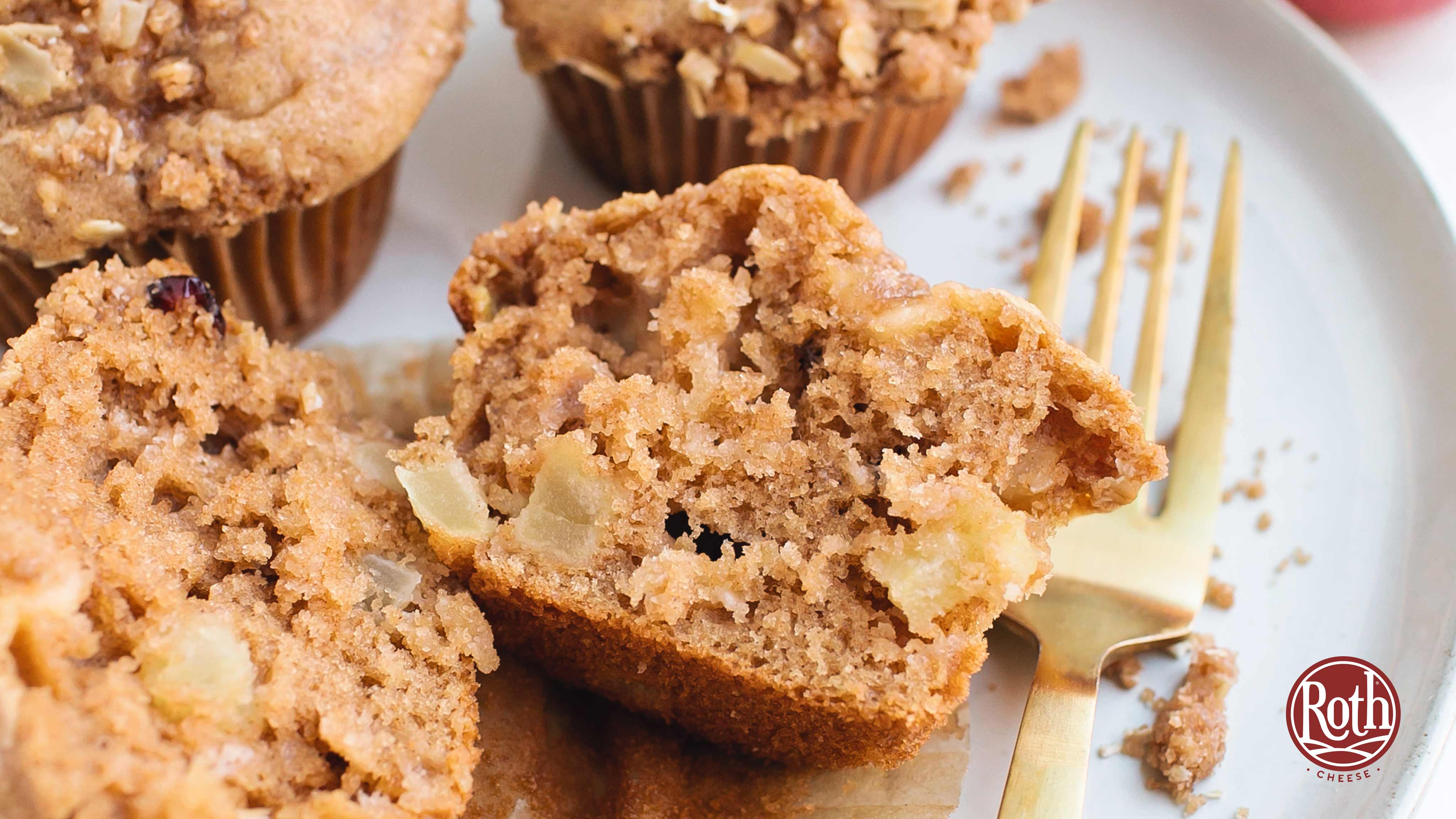 Image for Recipe Apple Cranberry Gouda Muffins