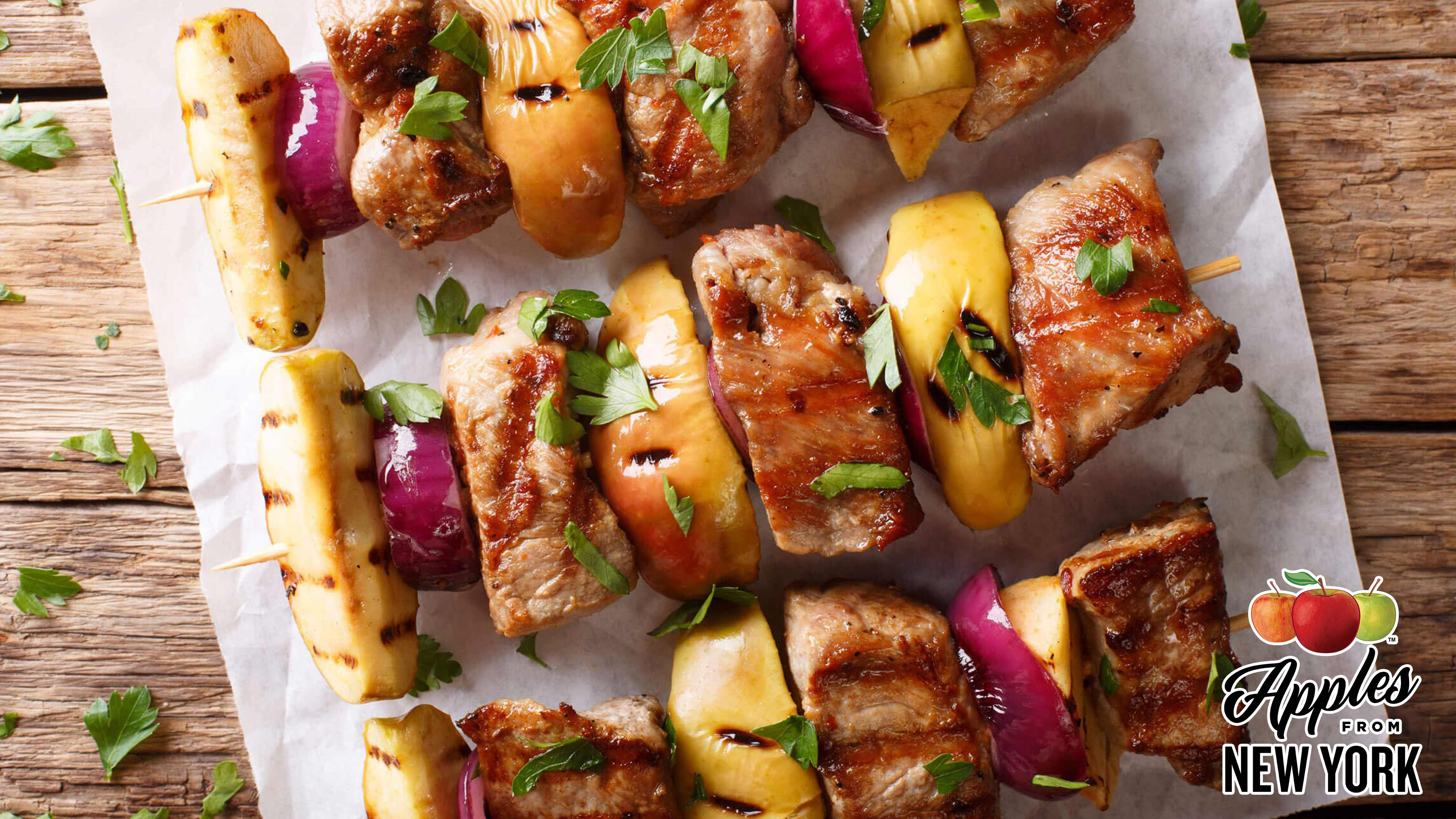 Image for Recipe Apple, Pork and Red Onion Skewers