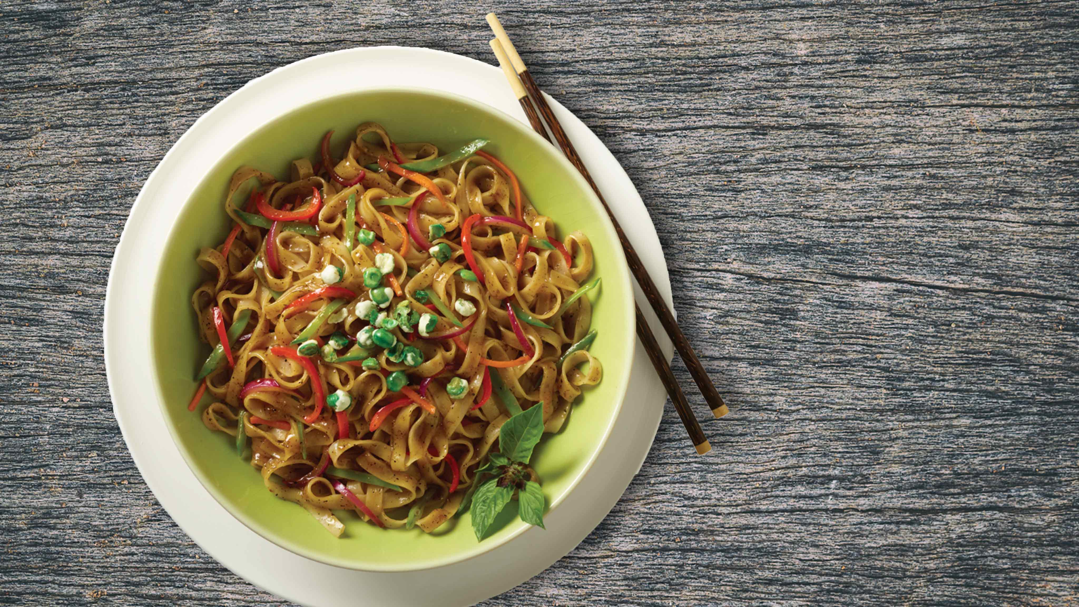 Image for Recipe Lemongrass Tamarind Rice Noodles and Vegetables