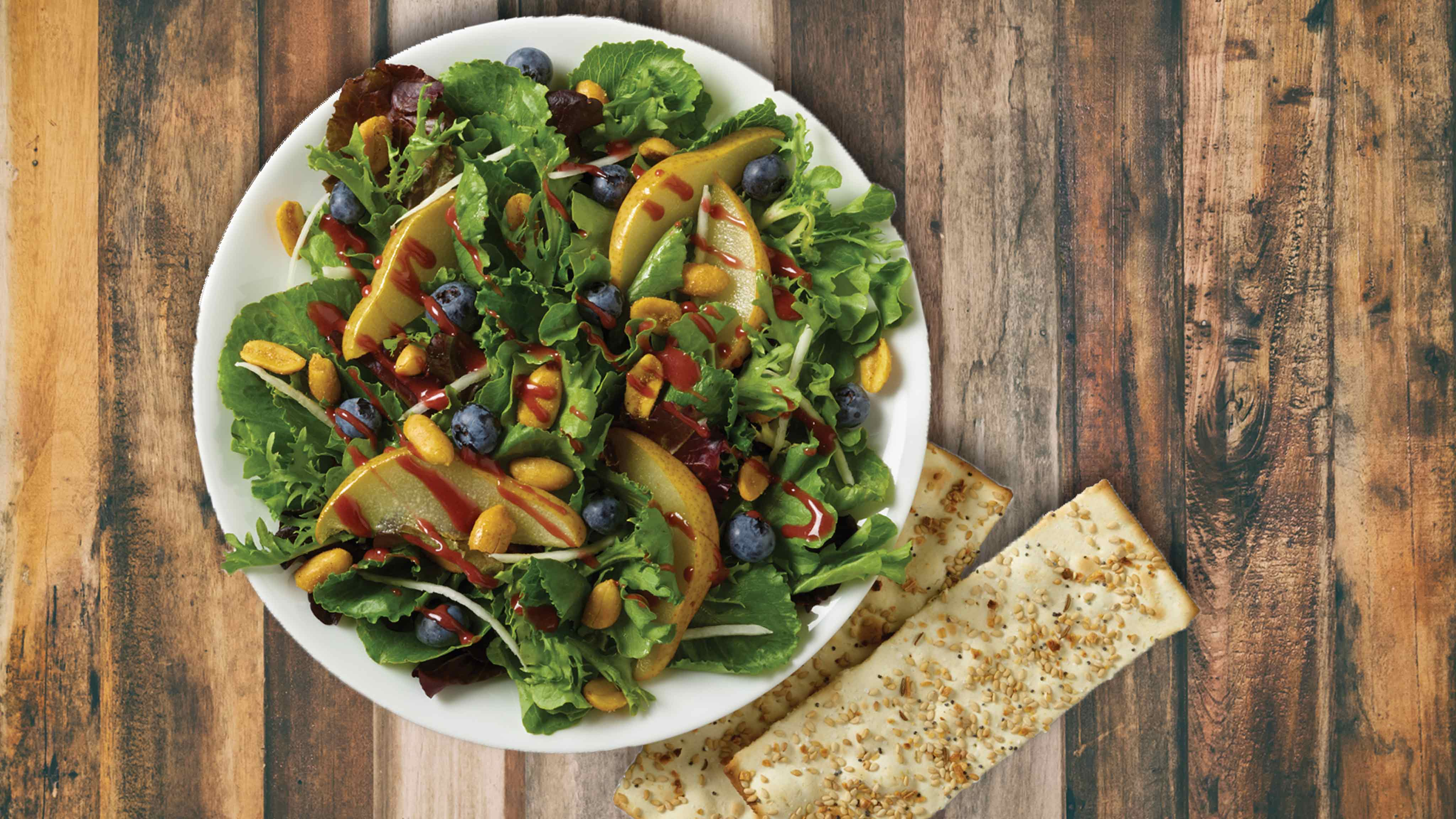 Image for Recipe Blueberry and Roasted Pear Fusion Salad