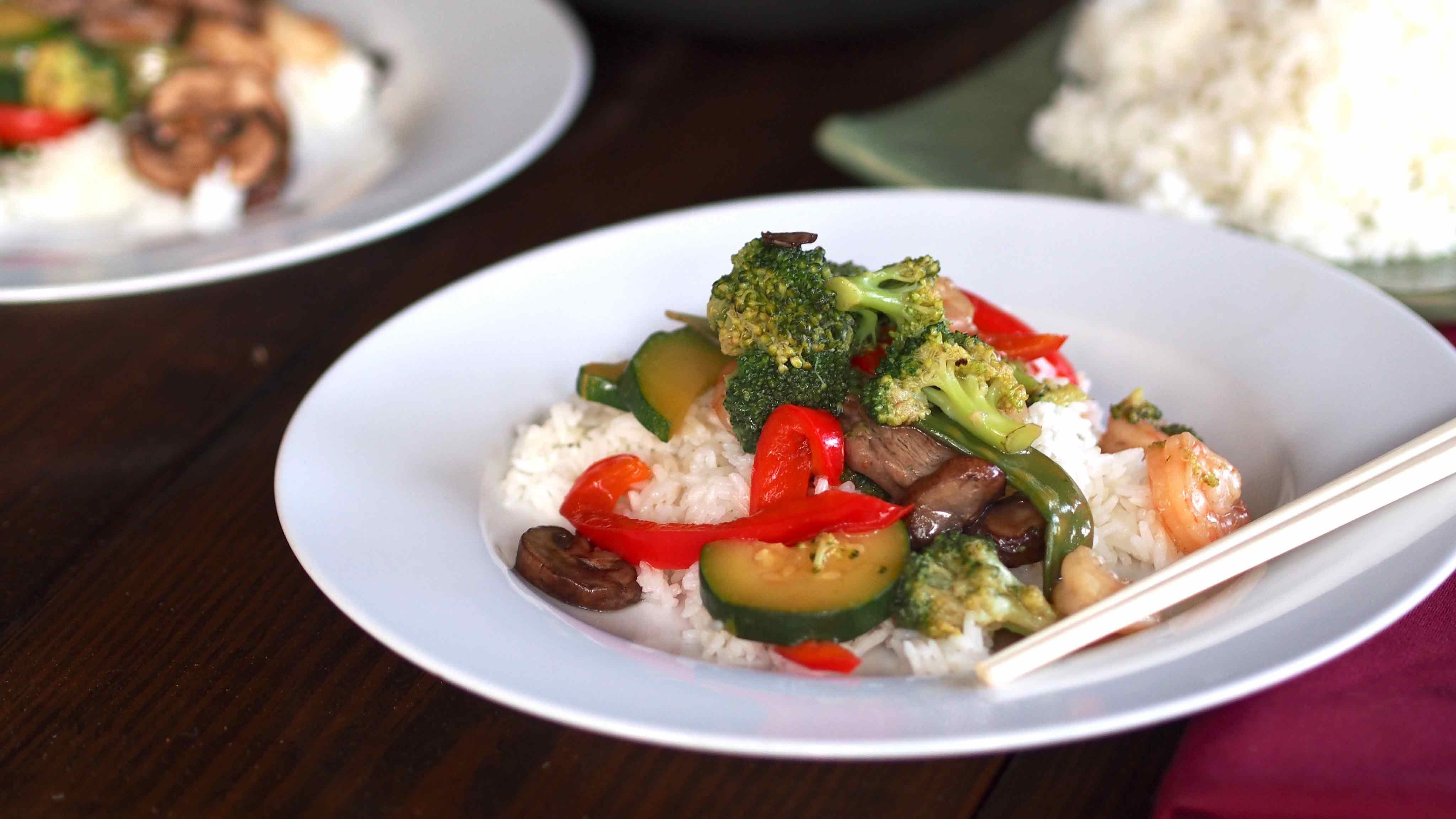 Image for Recipe Surf 'n Turf Veggie Stir Fry