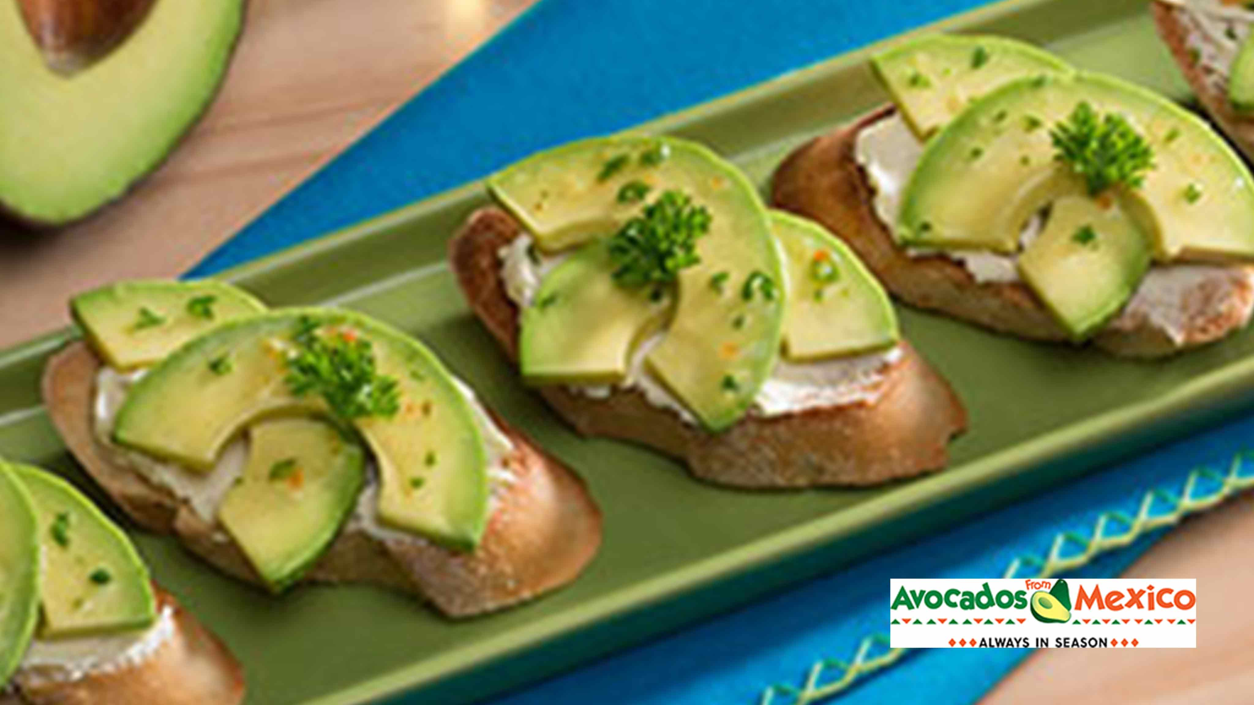 Image for Recipe Avocado, Tomato and Goat Cheese Toasts