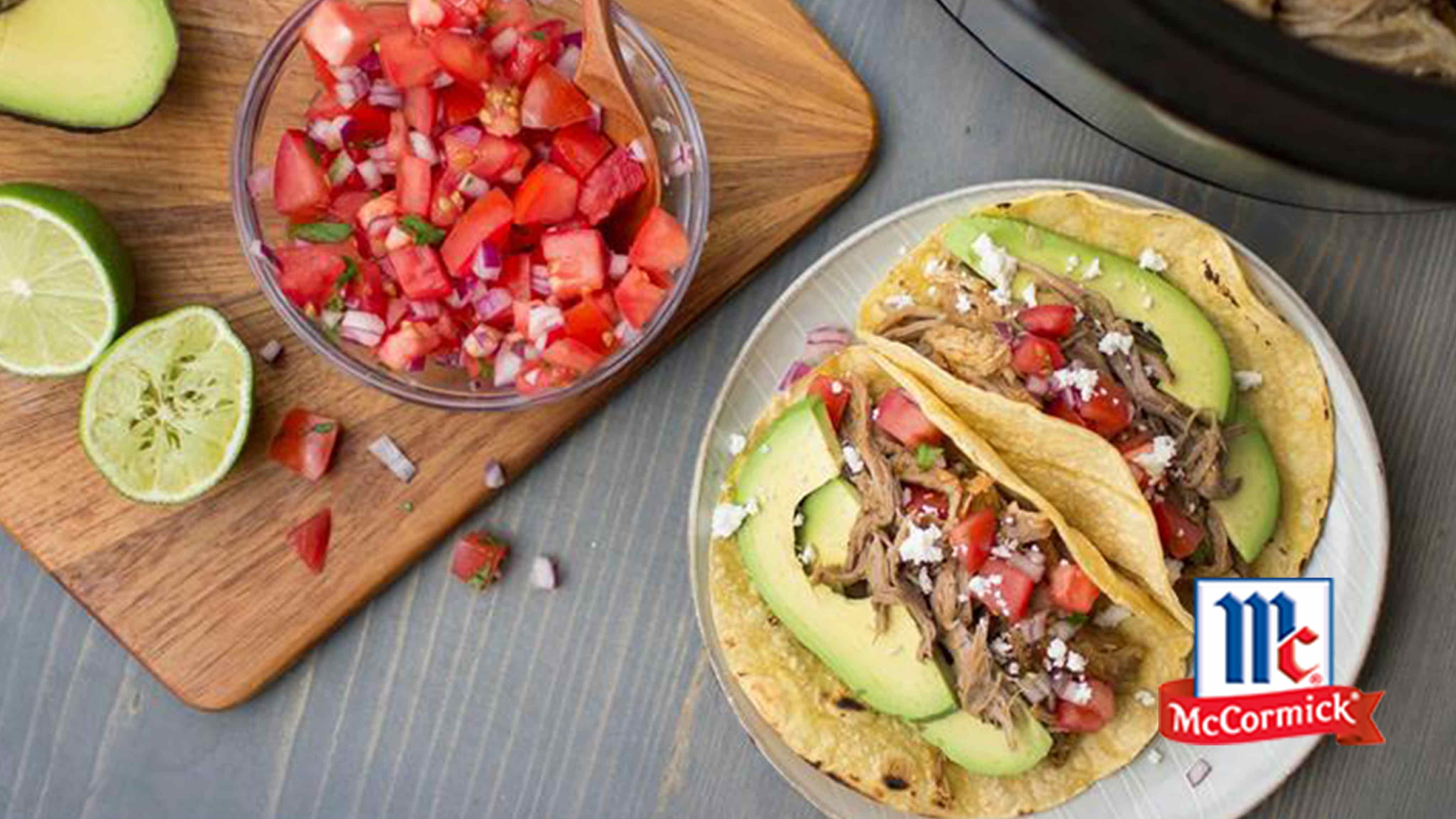 Image for Recipe Slow Cookers Shredded Pork Carnitas Taco