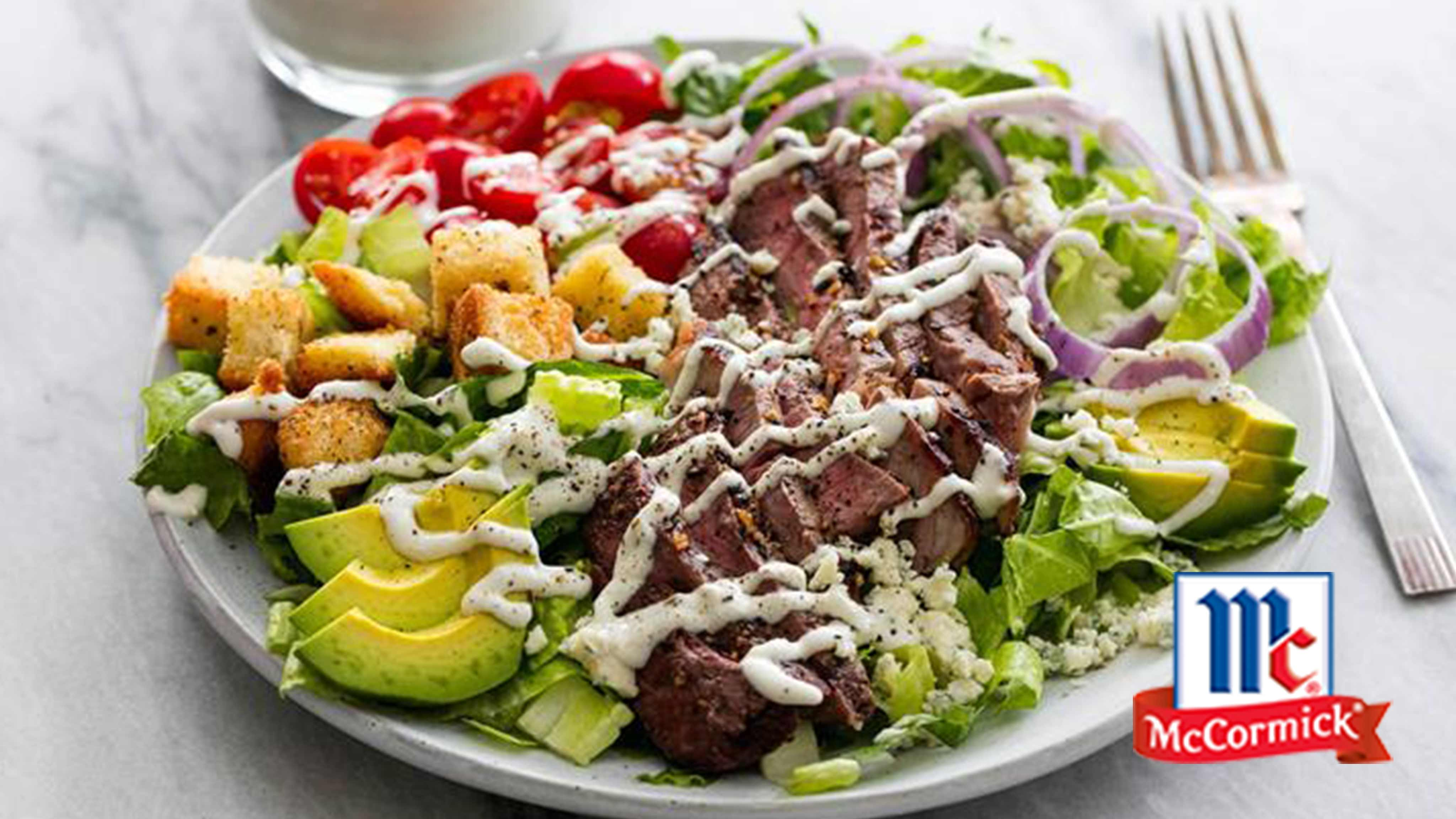 Image for Recipe Black n' Blue Grilled Steak Salad