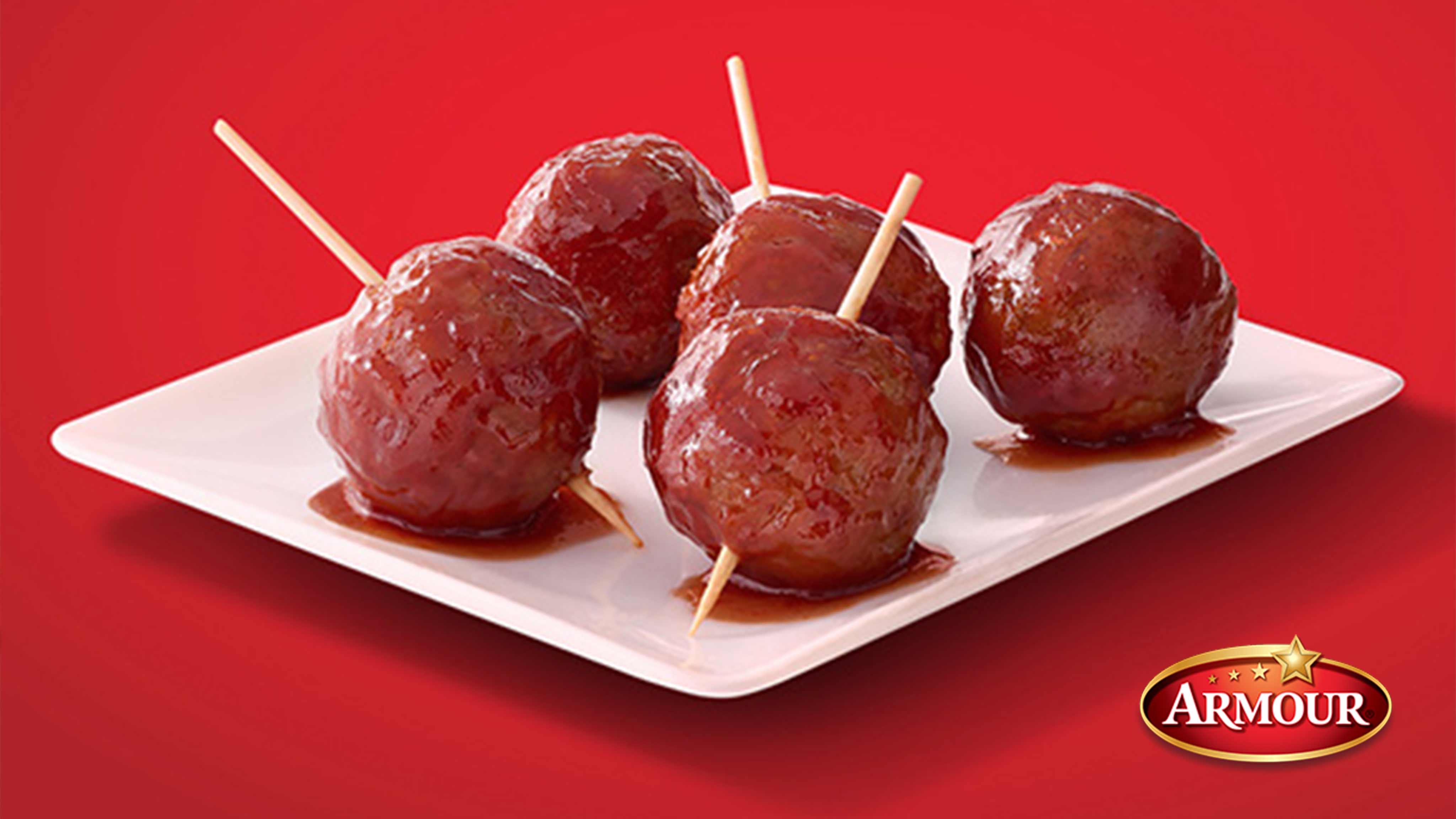 Image for Recipe Barbecue Glazed Meatballs