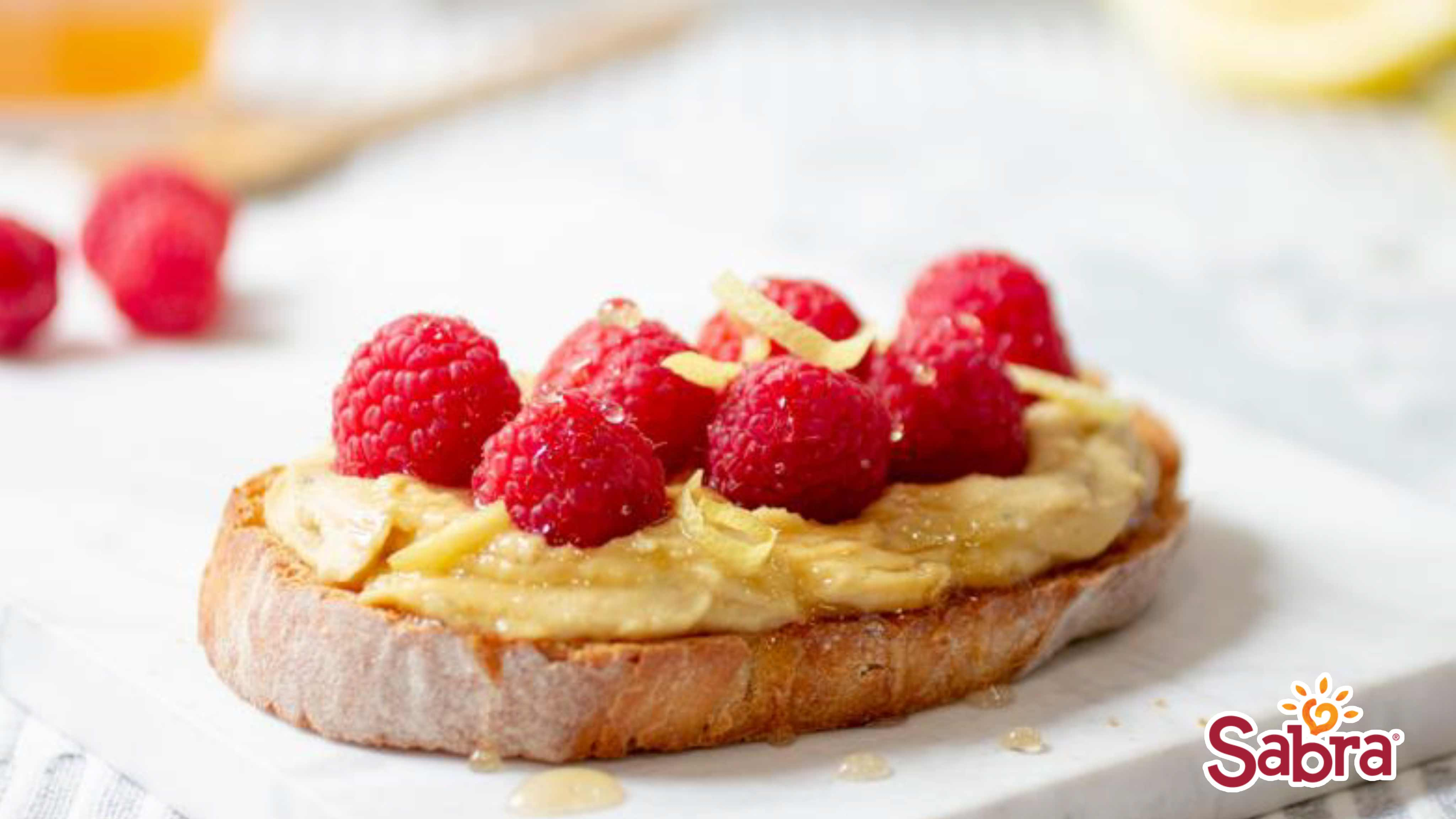 Image for Recipe Sabra Lemon Honey Raspberry Toast