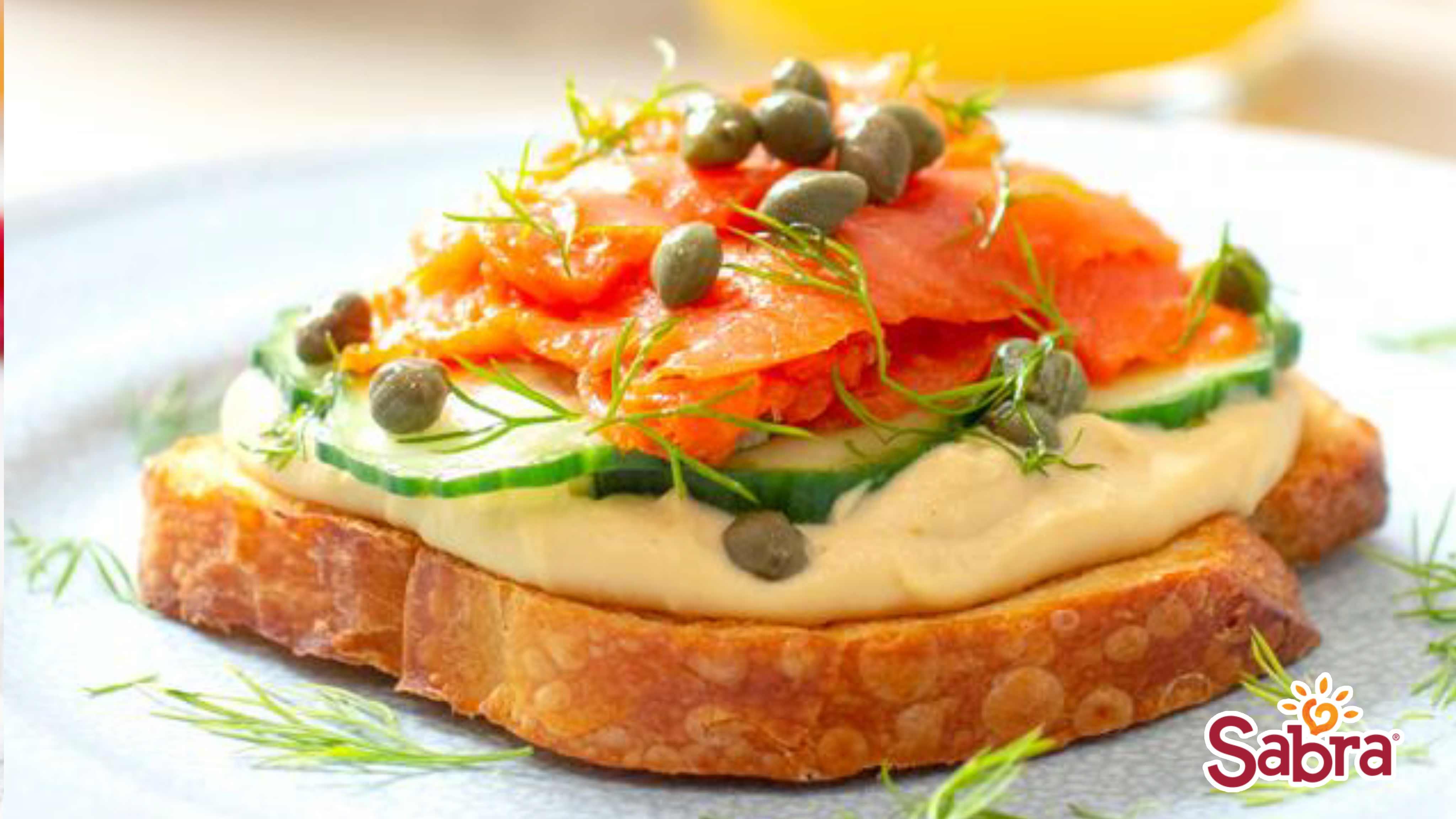 Image for Recipe Sabra Smoked Salmon Toast