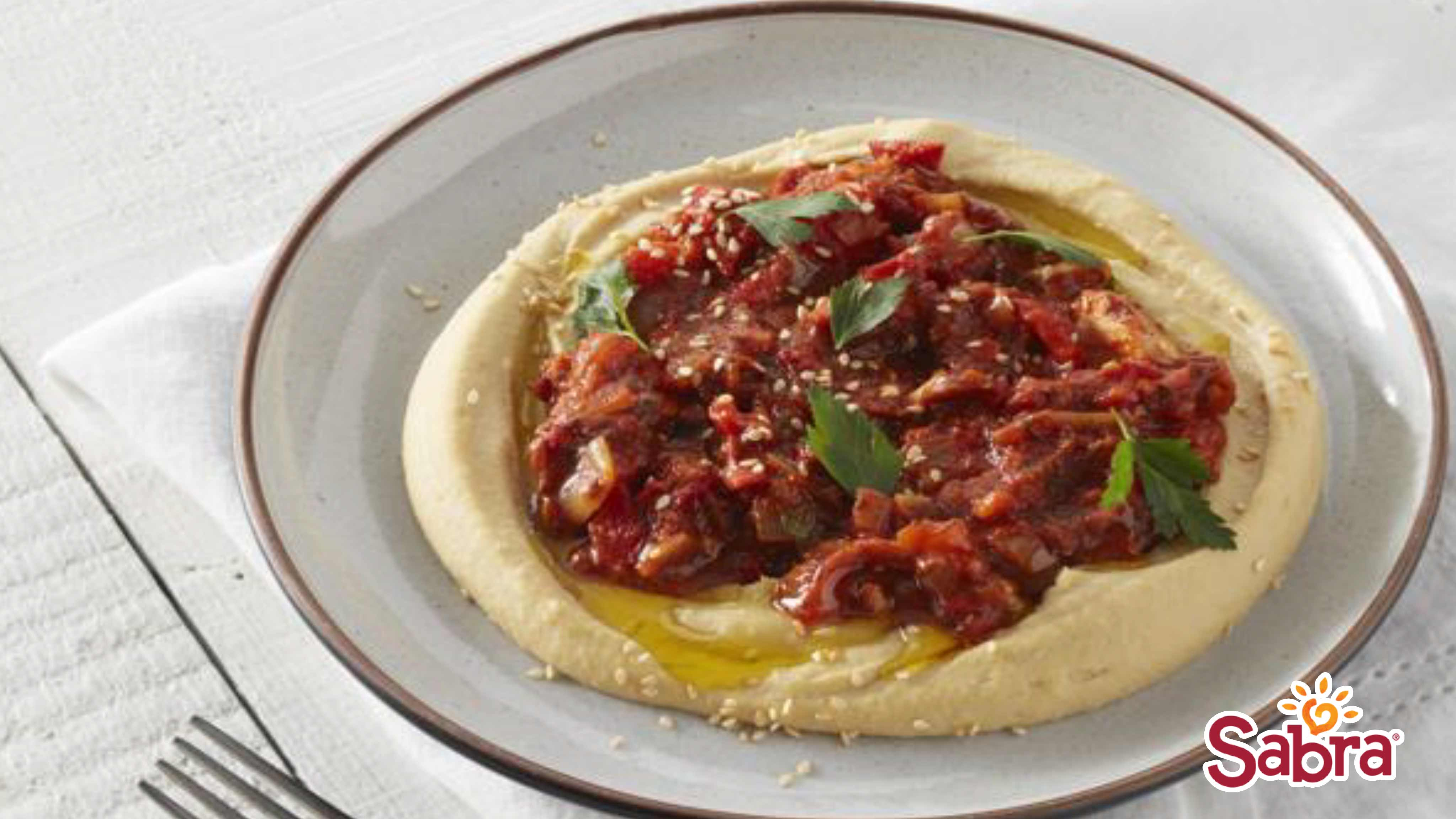 Image for Recipe Chicken and Roasted Pepper Hummus Bowl