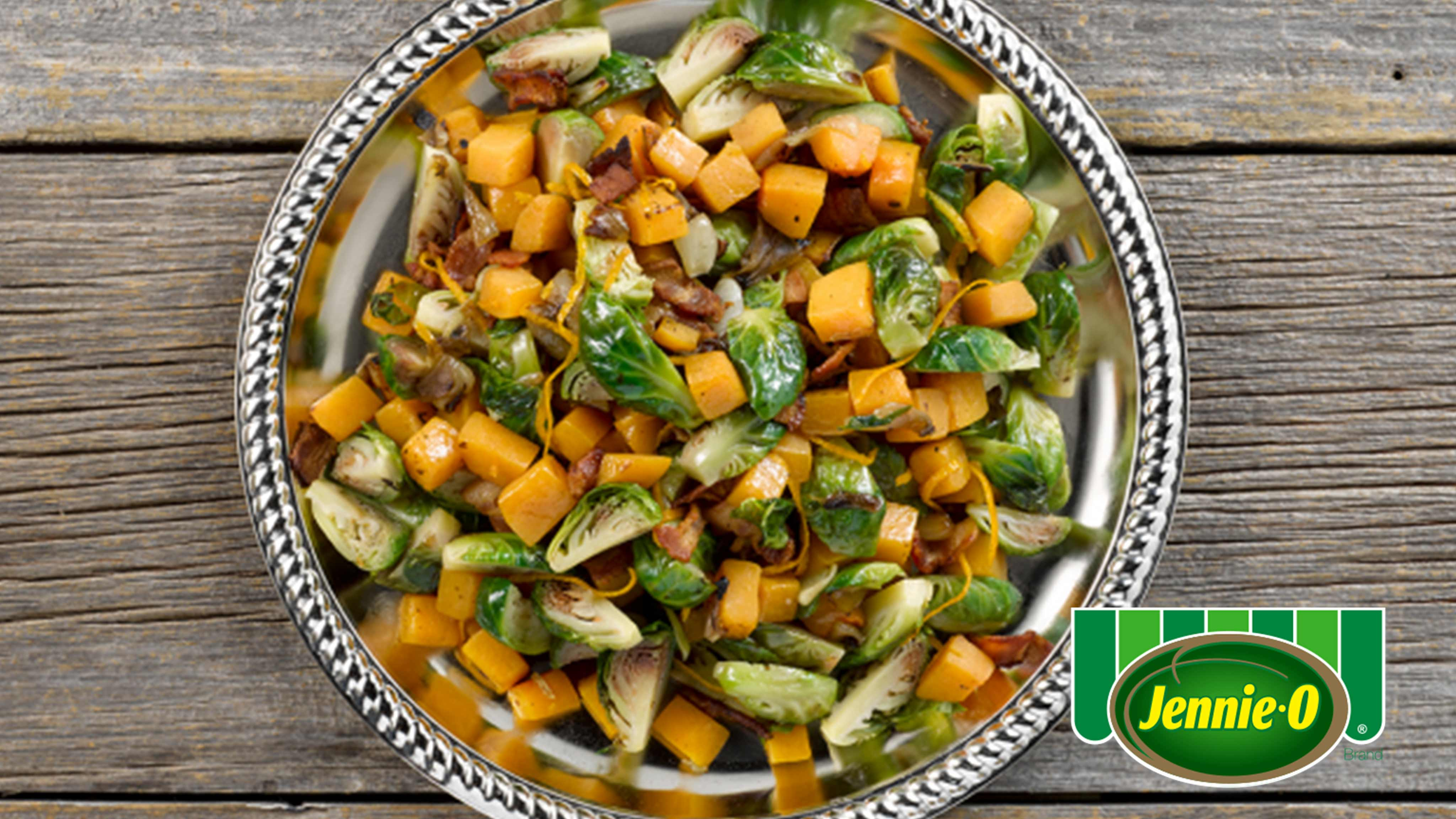 Image for Recipe Orange Glazed Brussels Sprouts and Butternut Squash