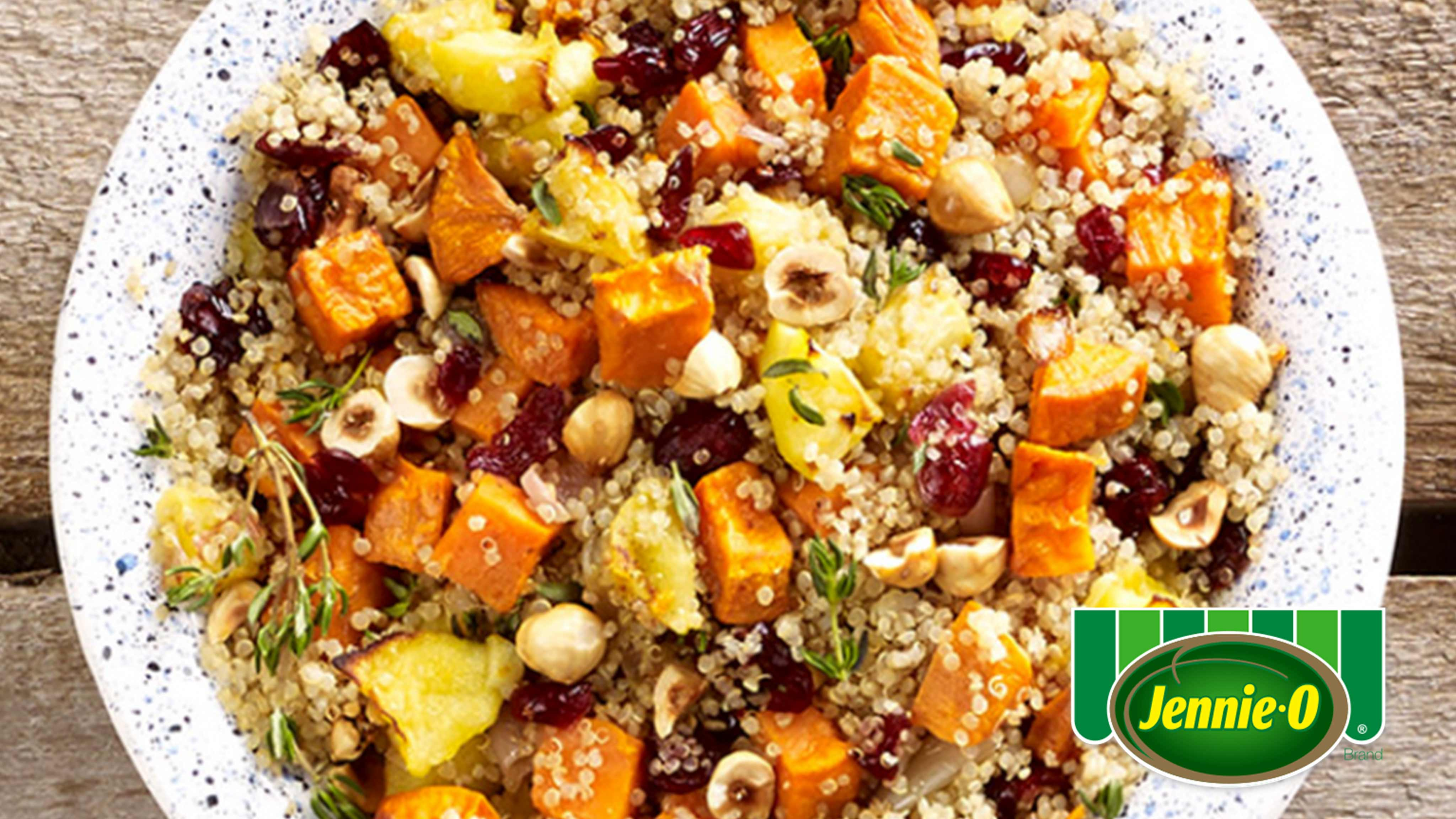 Image for Recipe Quinoa Stuffing with Sweet Potatoes, Apples and Hazelnuts