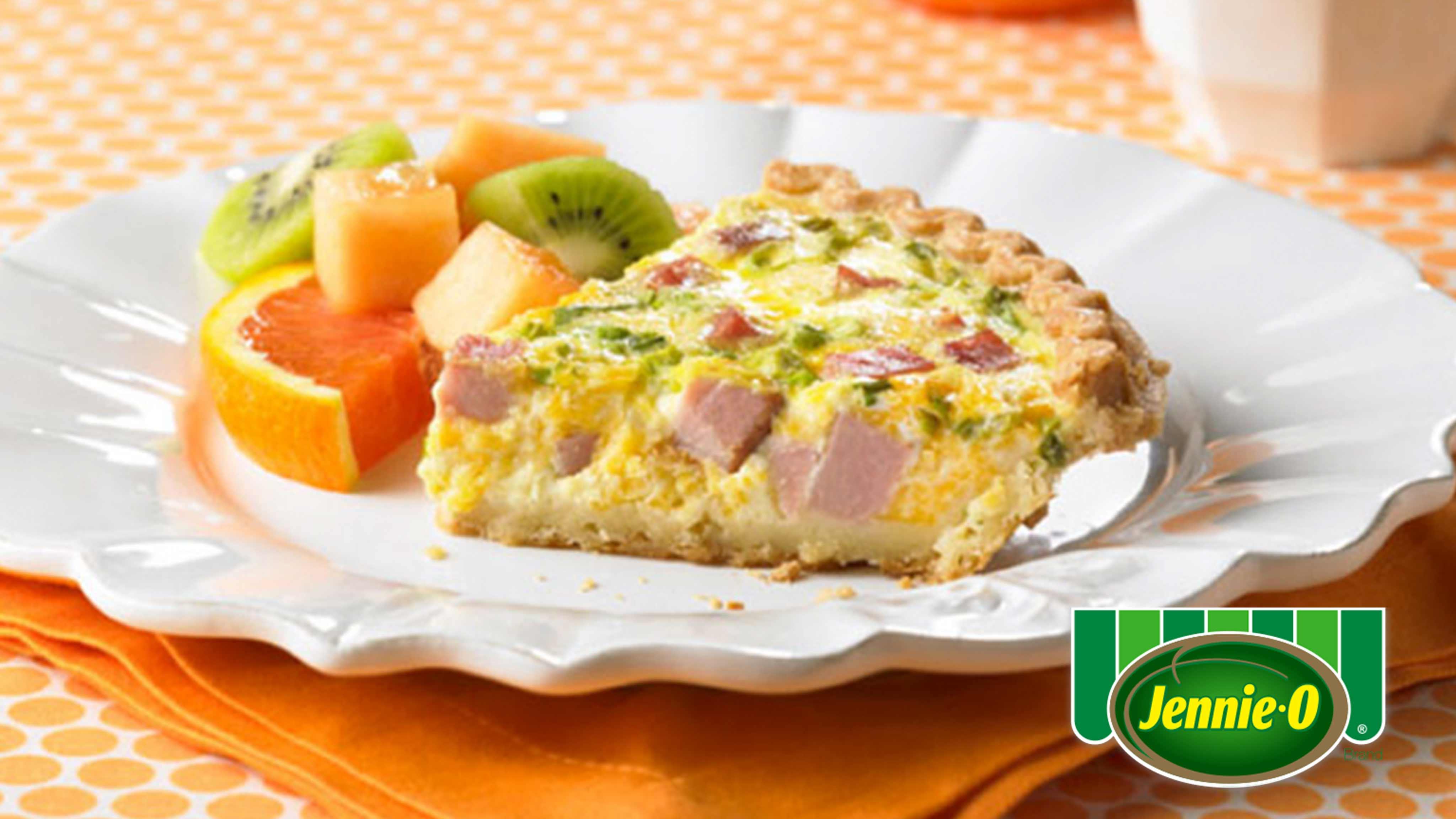 Image for Recipe Turkey Ham Quiche