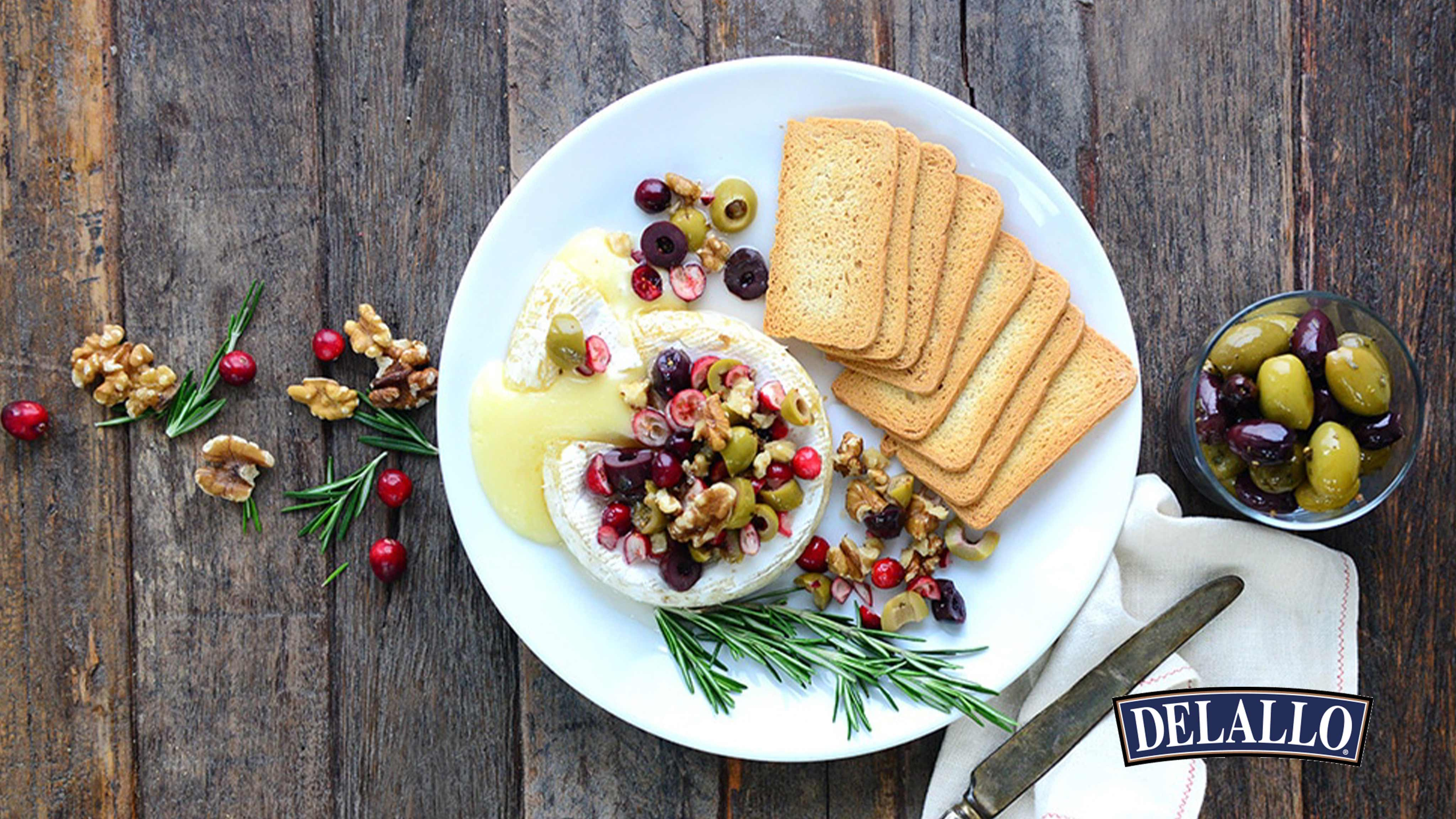 Image for Recipe Baked Brie Olives Jubilee