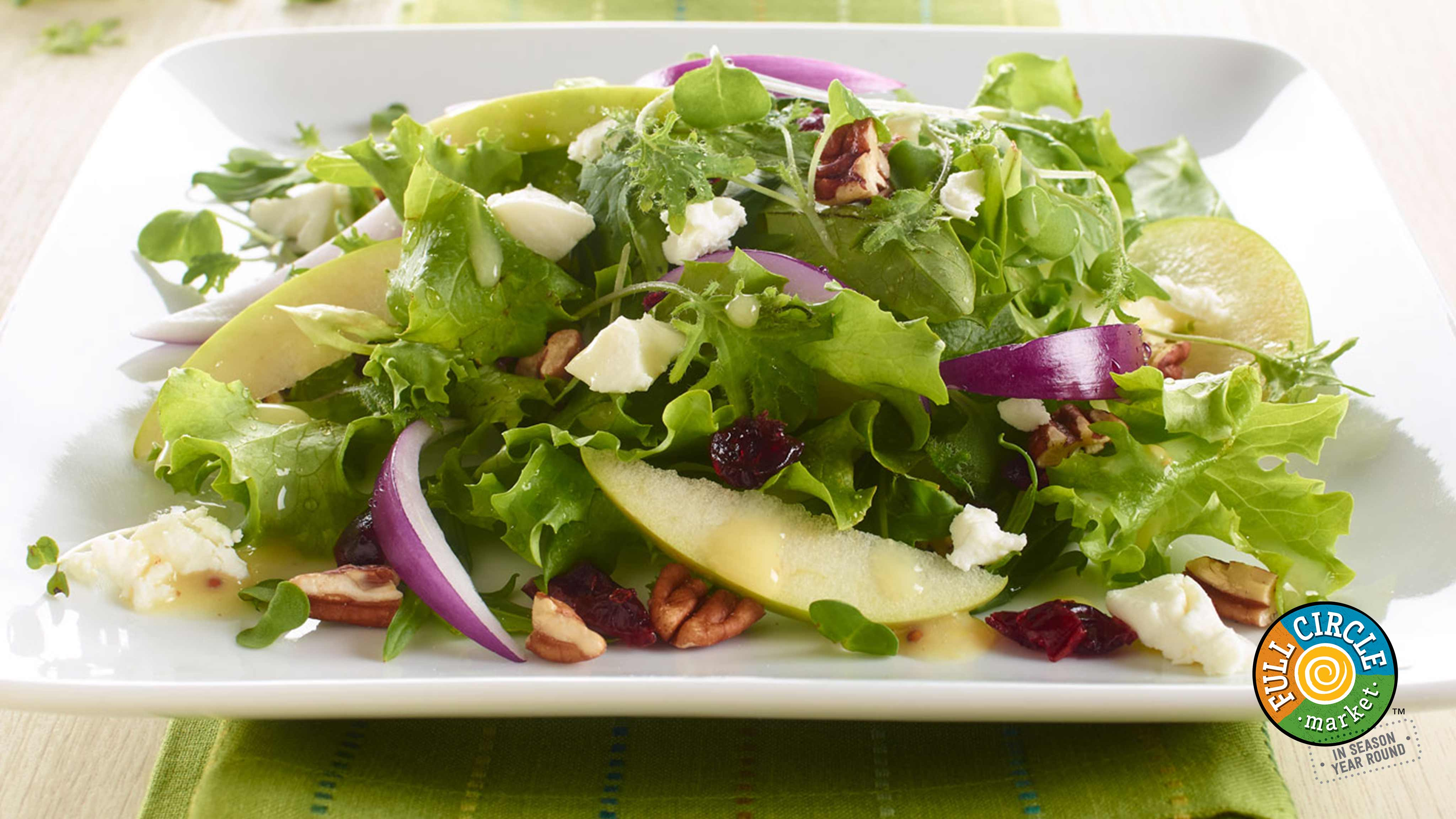 Image for Recipe Apple Pecan Mixed Green Salad