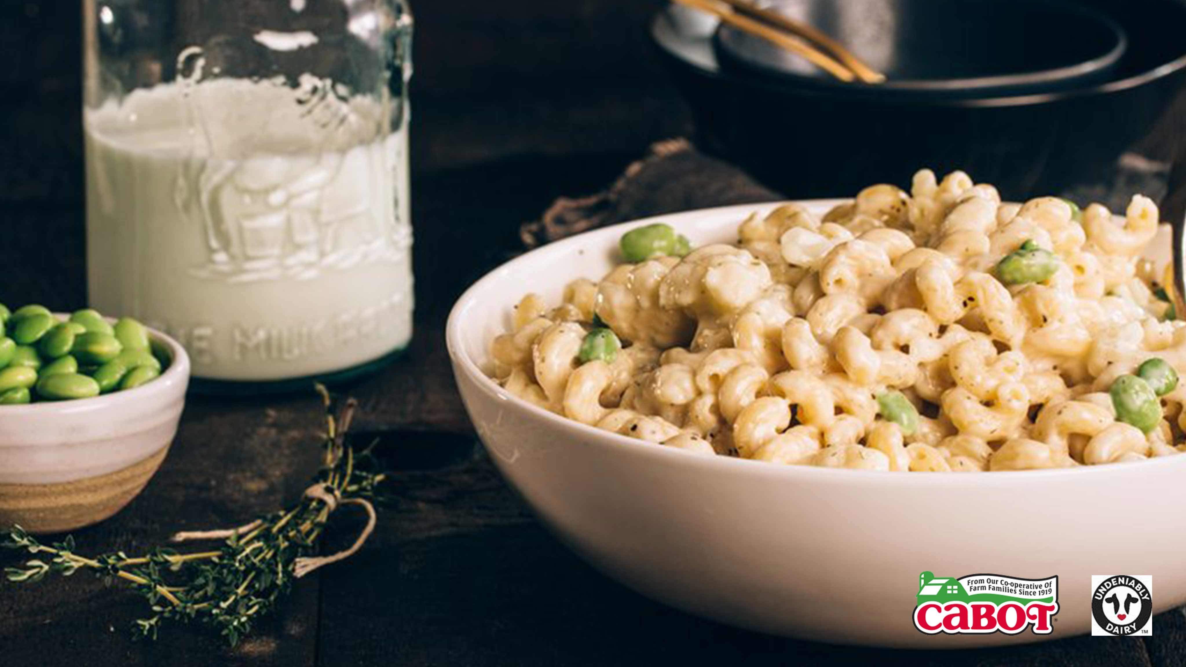 Image for Recipe Stovetop Edamame and Cauliflower Mac and Cheese