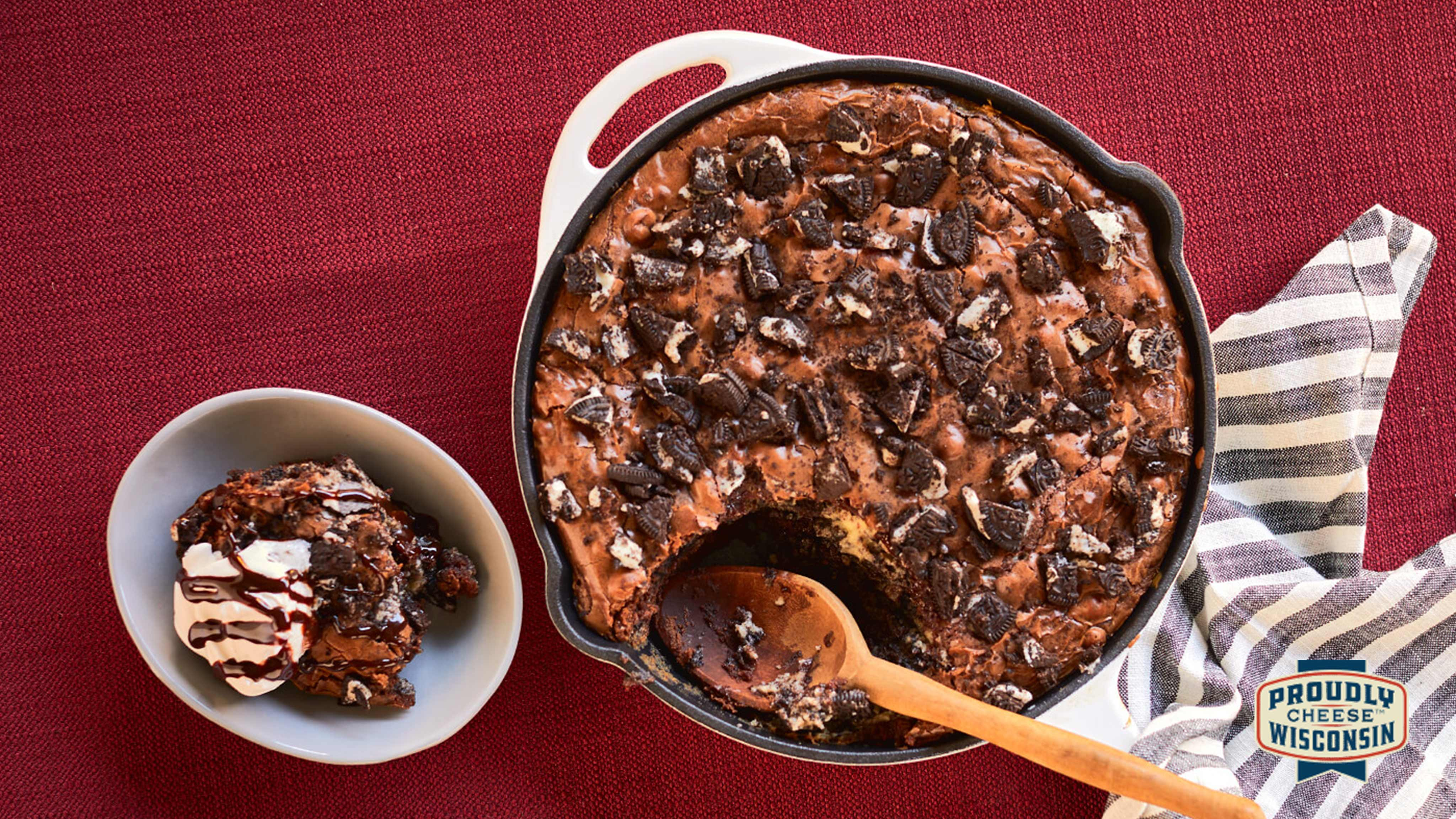 Image for Recipe Cookies and Cream Skillet Brownies