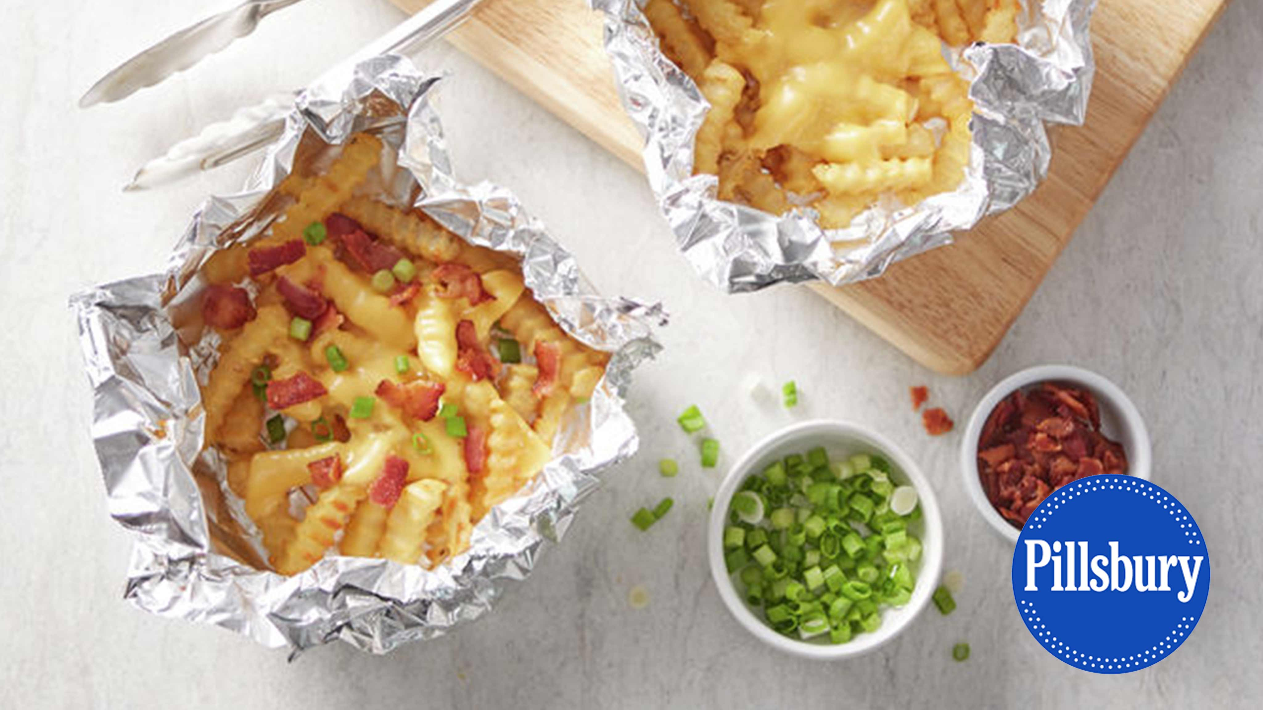 Image for Recipe Grilled Foil Pack Cheesy Fries
