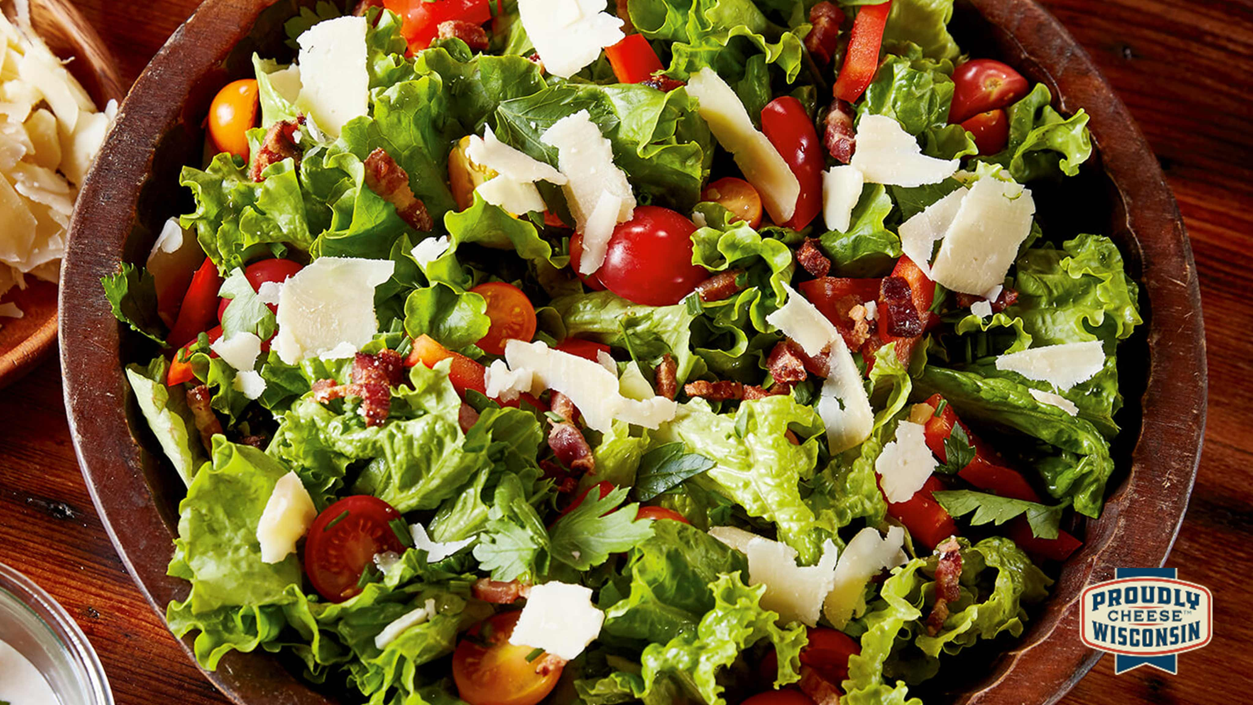 Image for Recipe All-American Salad with Parmesan Pepper Dressing