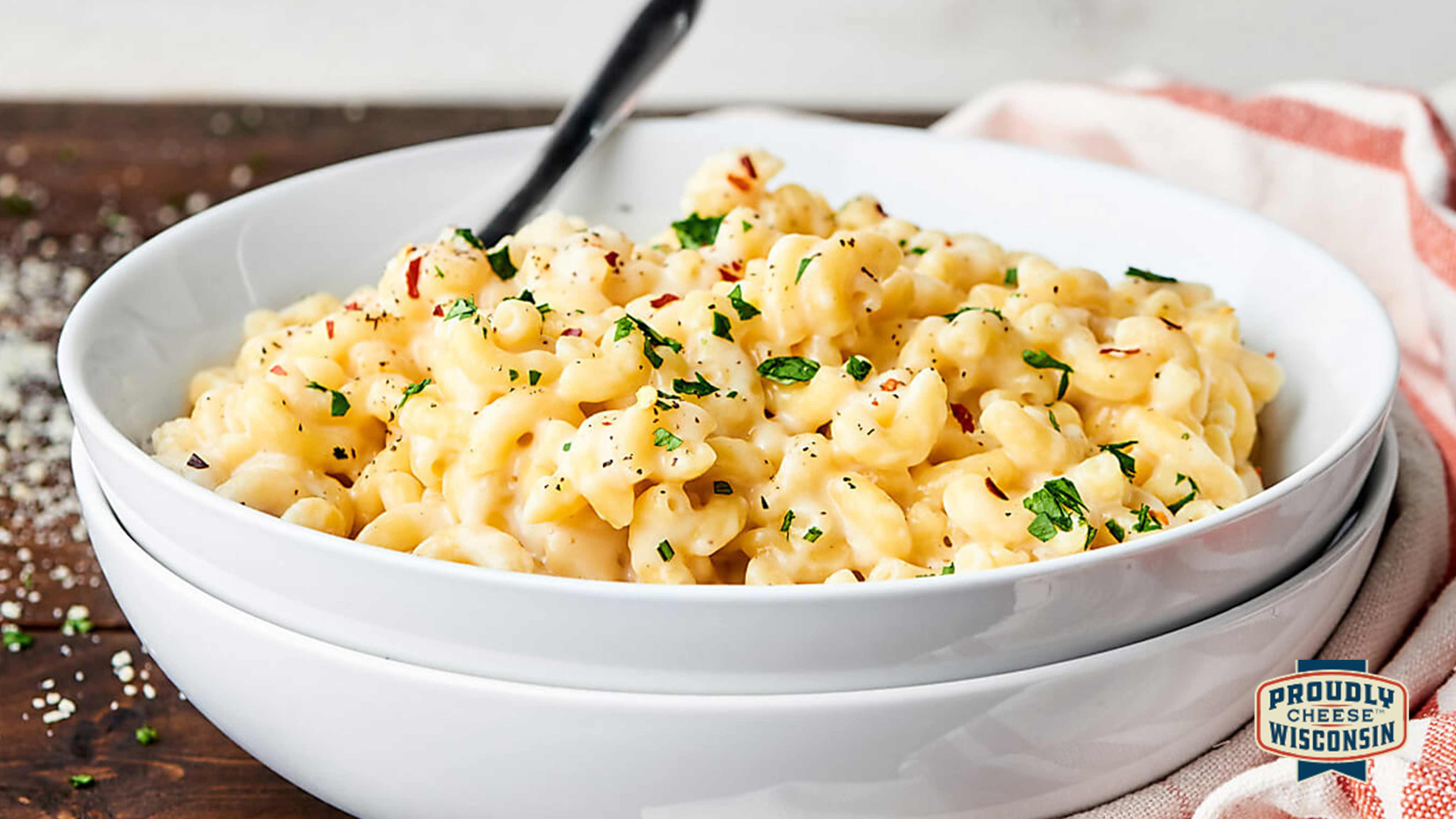 Image for Recipe Three-Cheese Wisconsin Mac and Cheese