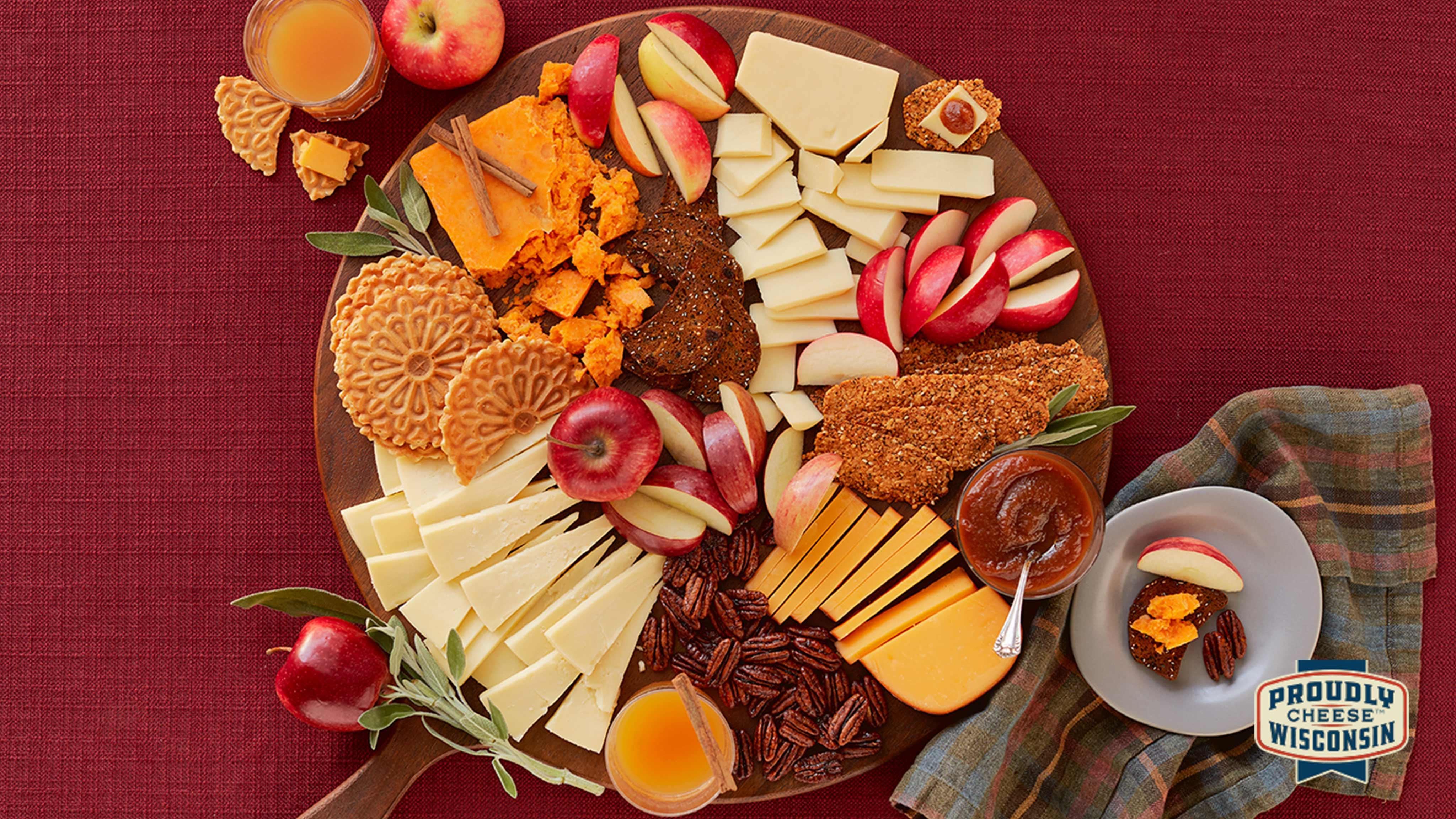 Image for Recipe Autumn Apple Cheese Board