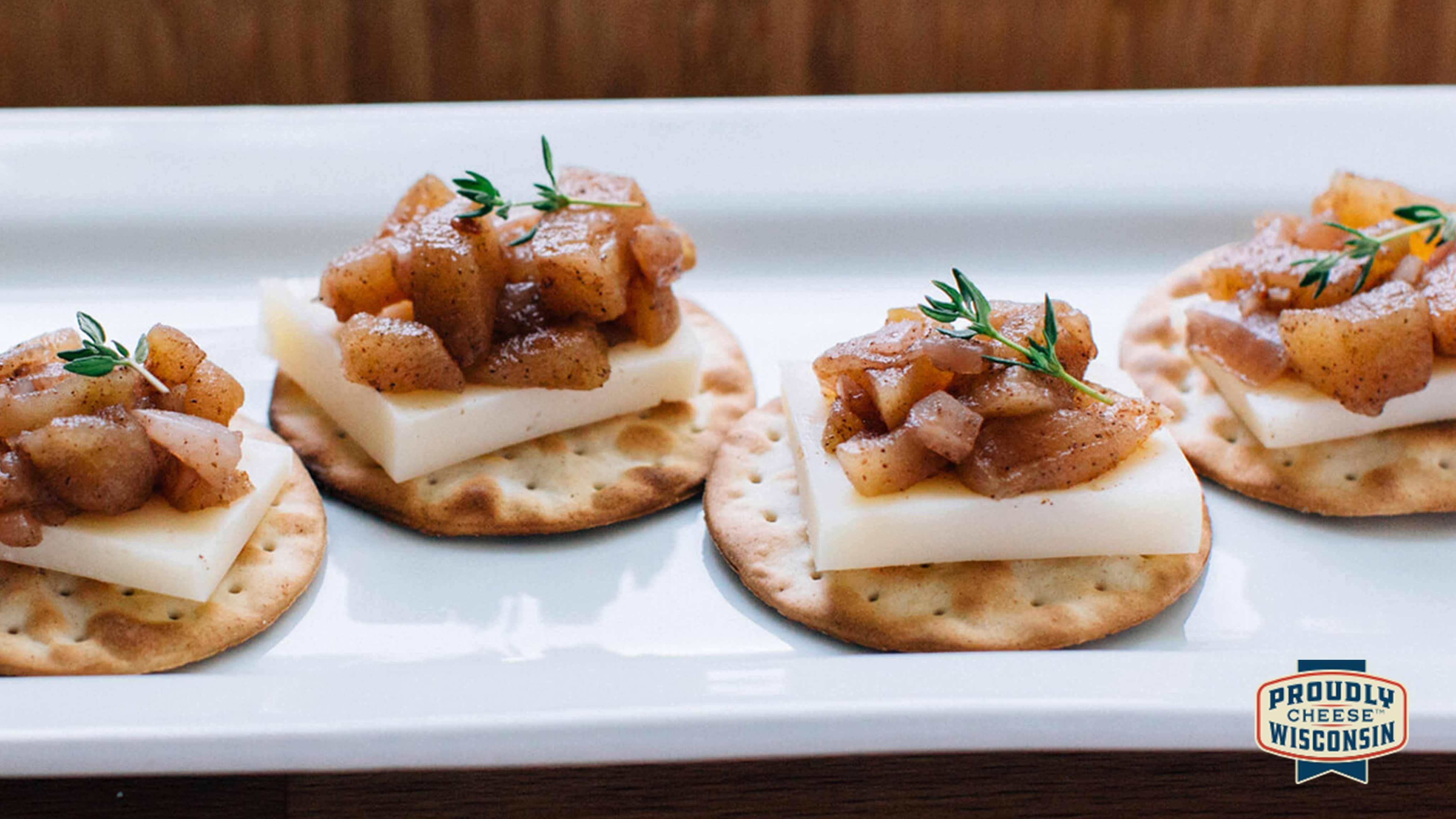 Image for Recipe Apple Chutney and Gouda Bites