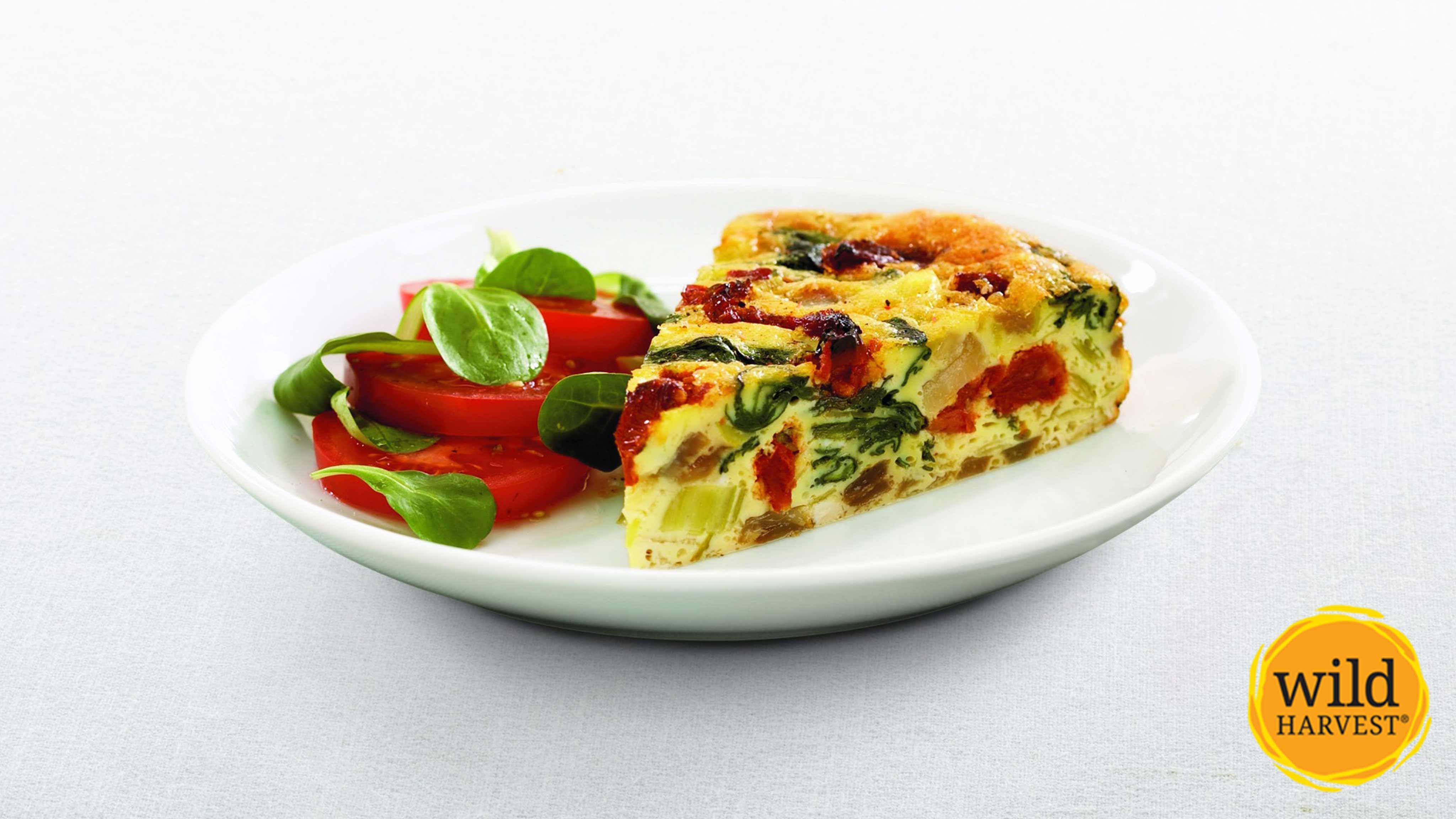 Image for Recipe Crustless Spinach and Sun-dried Tomato Quiche