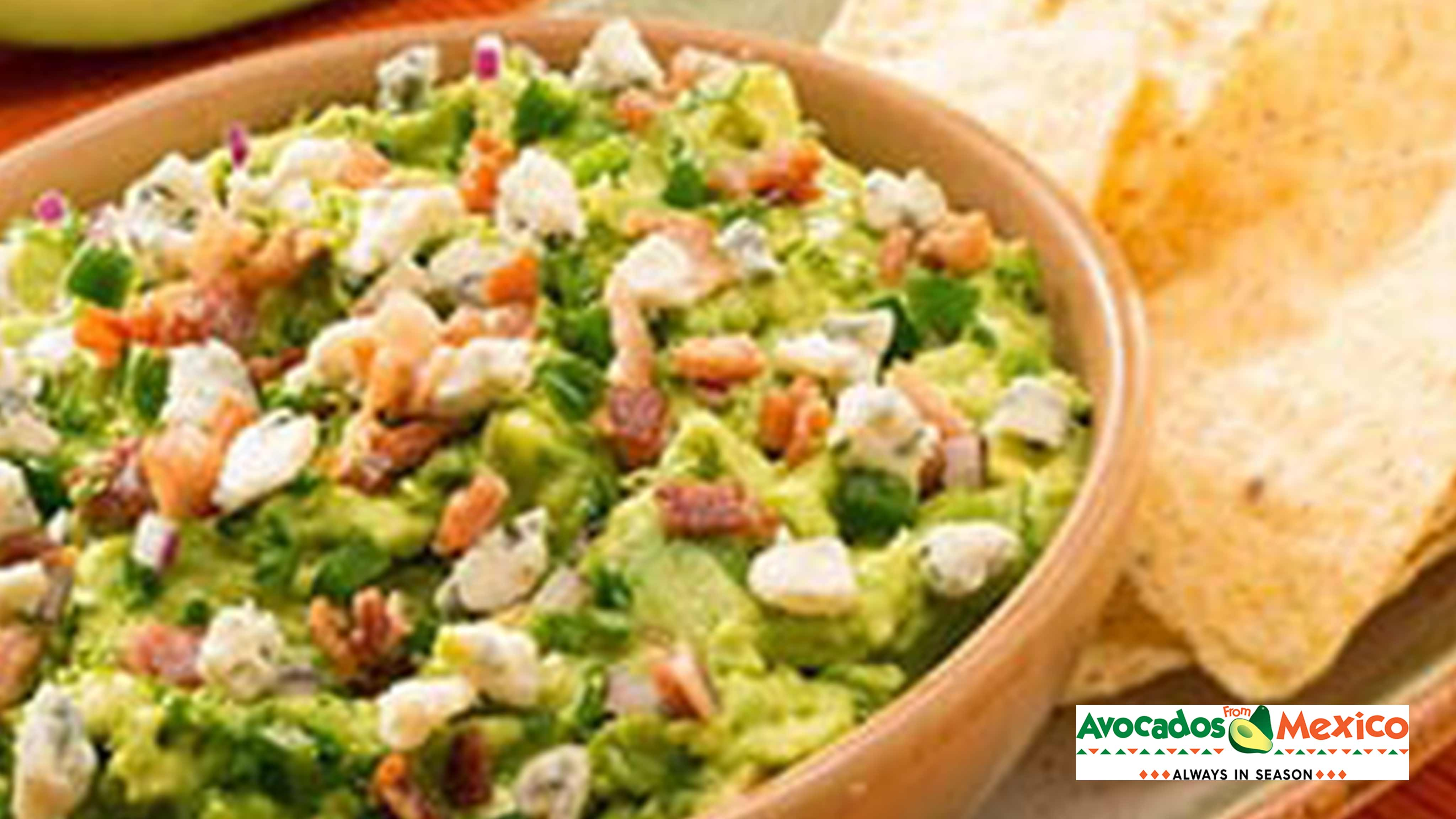 Image for Recipe Bacon and Blue Cheese Guacamole