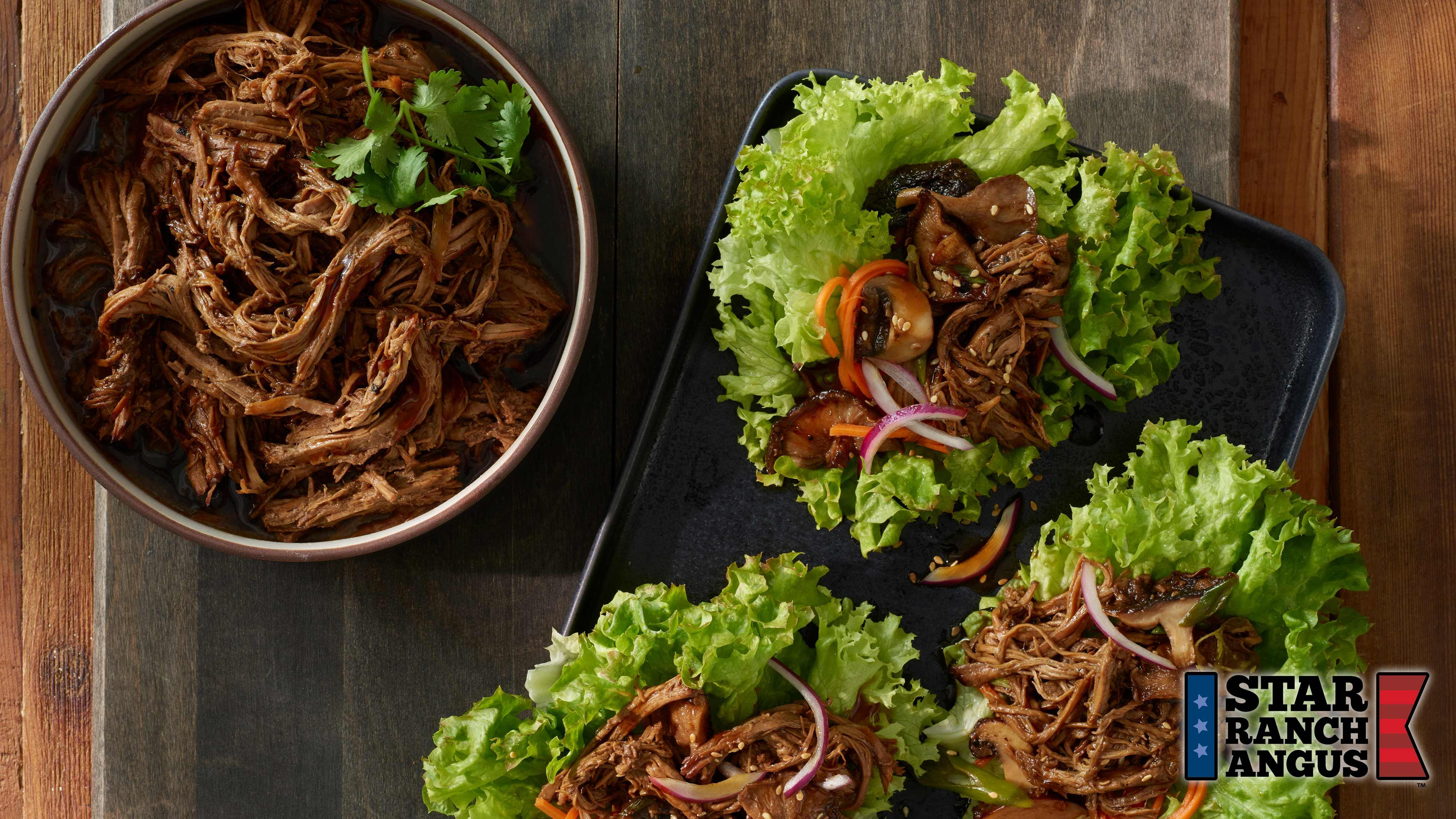 Image for Recipe Shredded Beef Lettuce Wraps