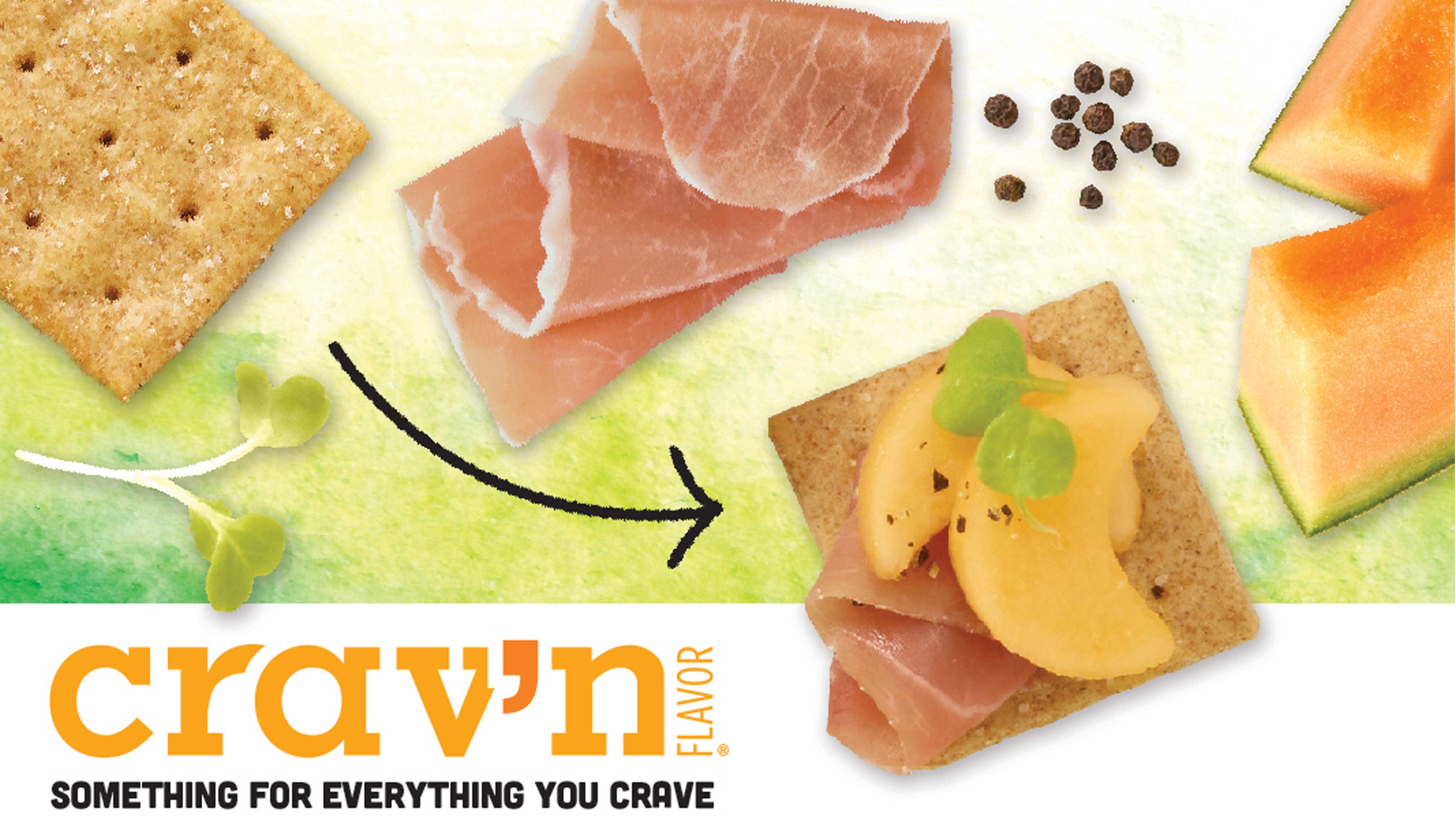 Image for Recipe Crav'n Sweet Melon Prosciutto Thin Wheats