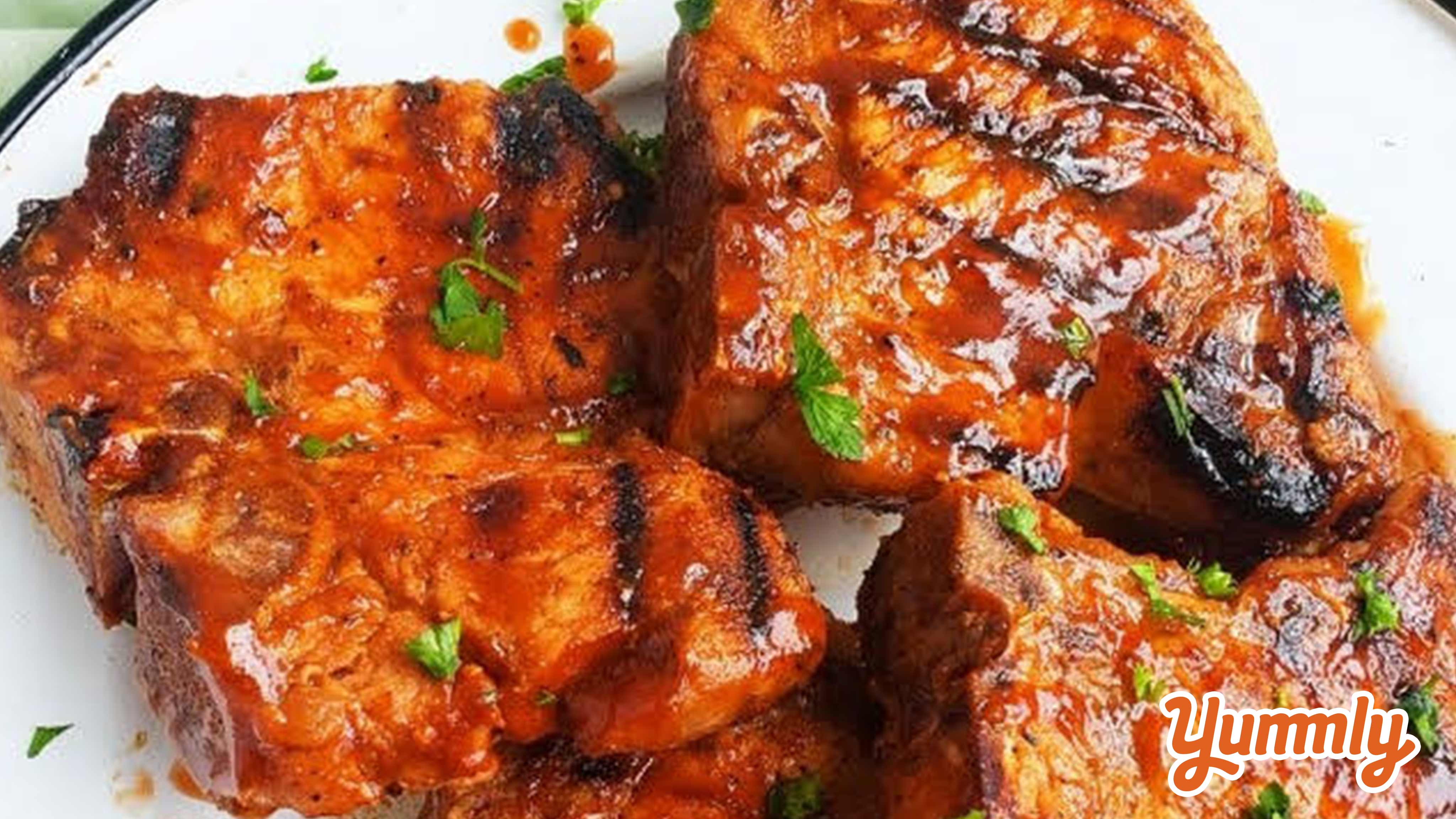 Image for Recipe Spicy Grilled BBQ Pork Chops