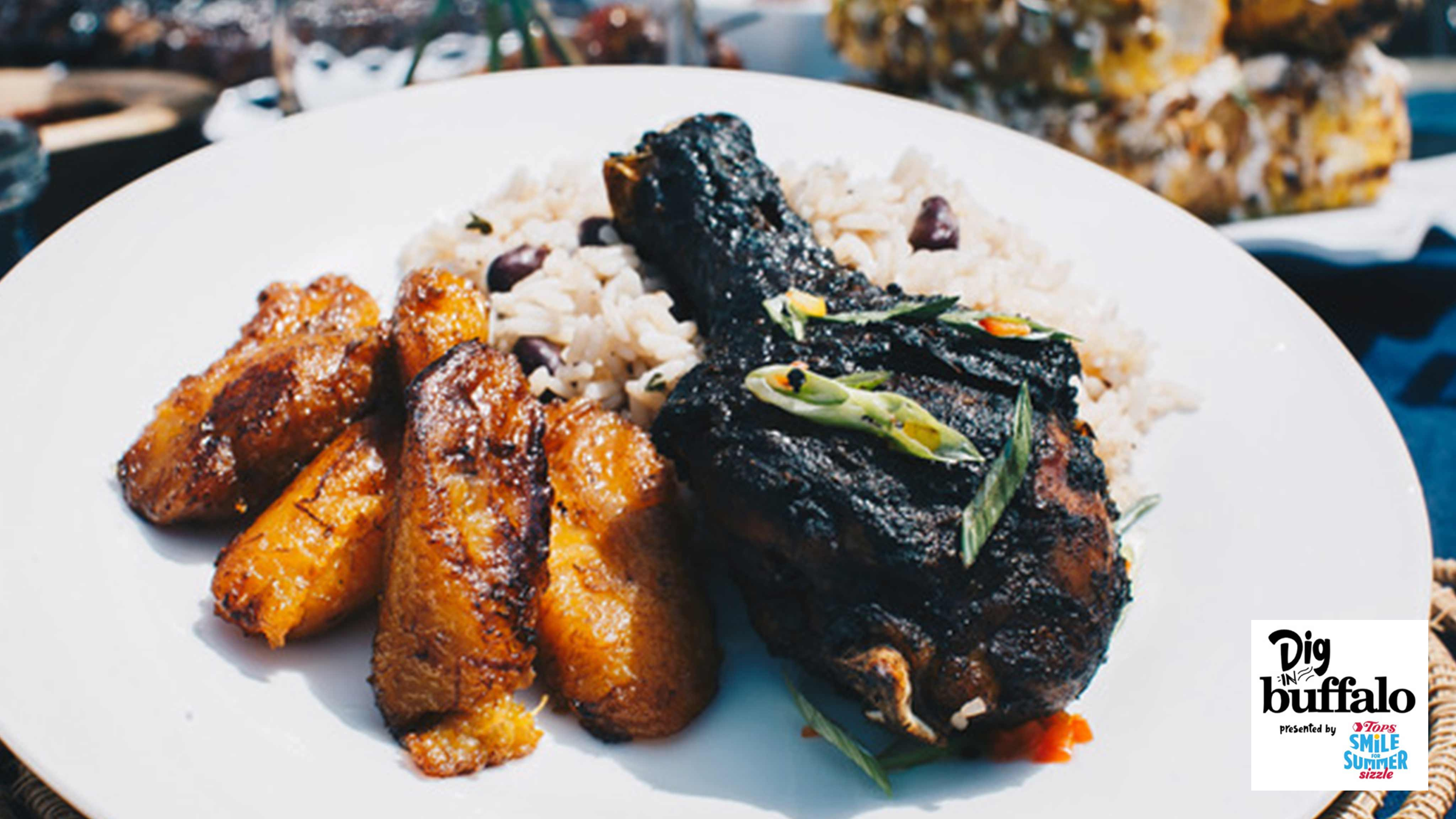 Image for Recipe Jamaican Jerk Chicken with Jamaican Rice and Peas
